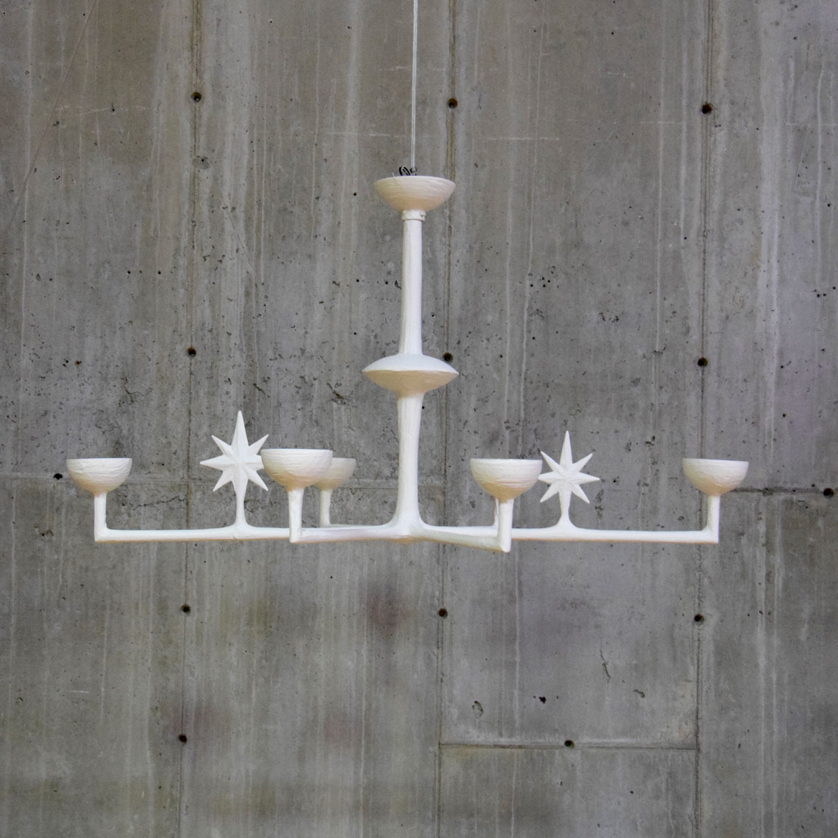 Gesso Painted Celestial Chandelier $4,650
