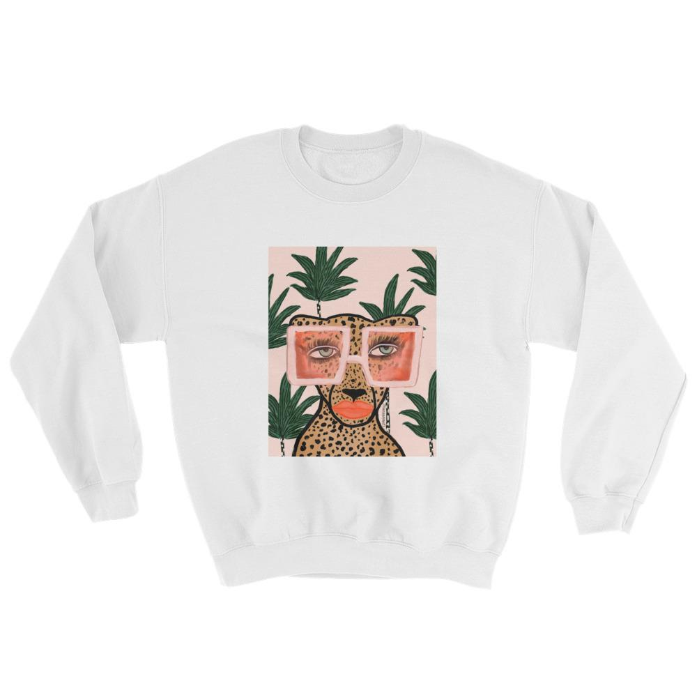Tropical Cheetah Sweatshirt $40