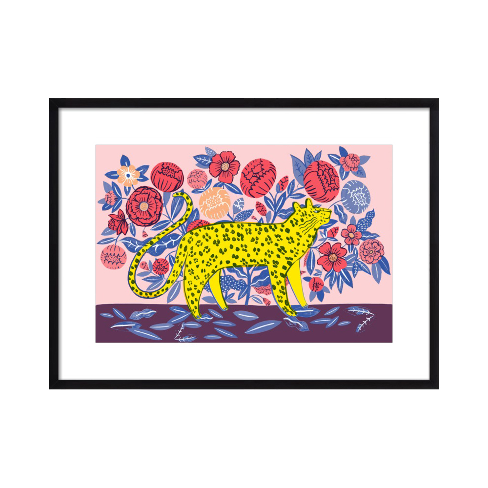 Leopard with flowers  BY AGATHE SINGER from $27.50