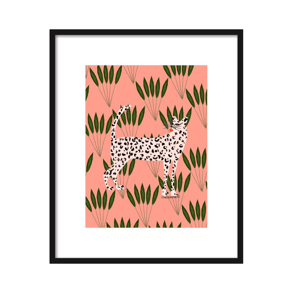 Cheetah On Leaves  BY KENDRA DANDY from $24