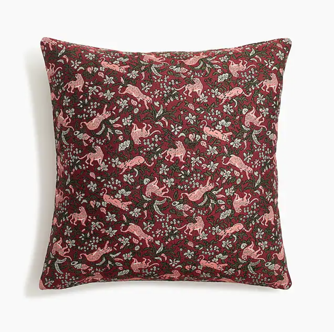 Compono jacquard pillow in jungle cat print