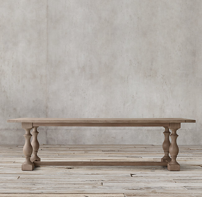 17TH C. PRIORY RECTANGULAR DINING TABLE, from $1295