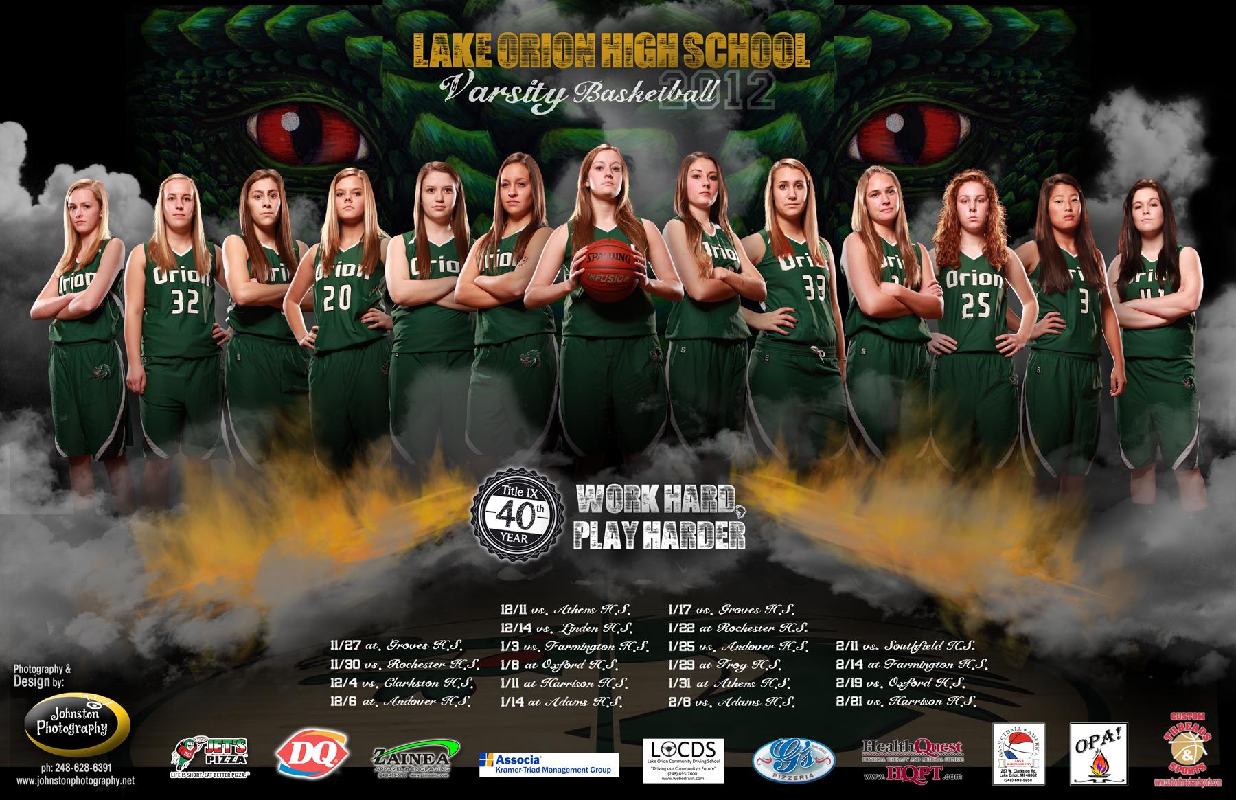 Lake Orion  Girls Basketball Team .jpg