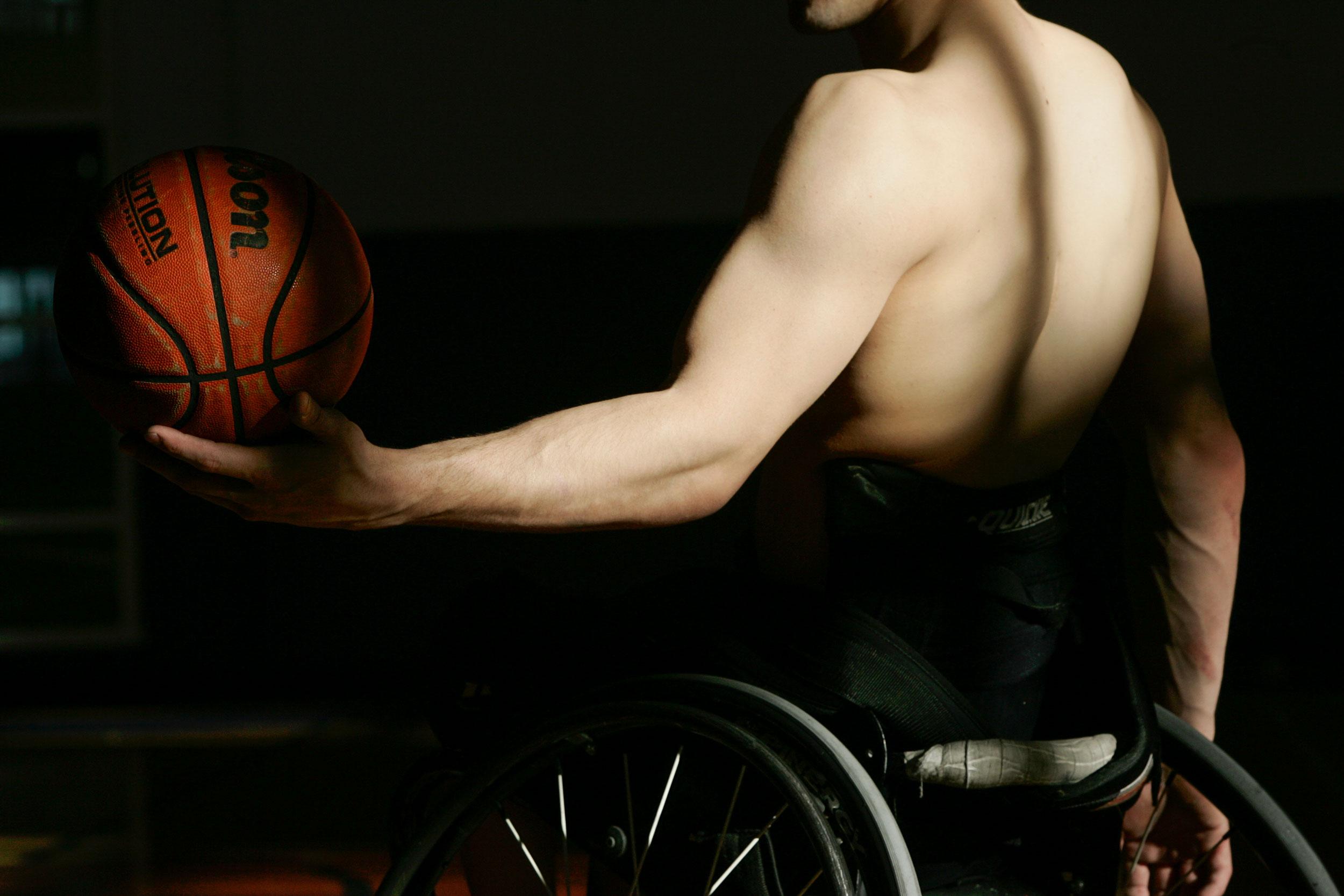 Zach Beaulieu, Illinois wheelchair basketball player.