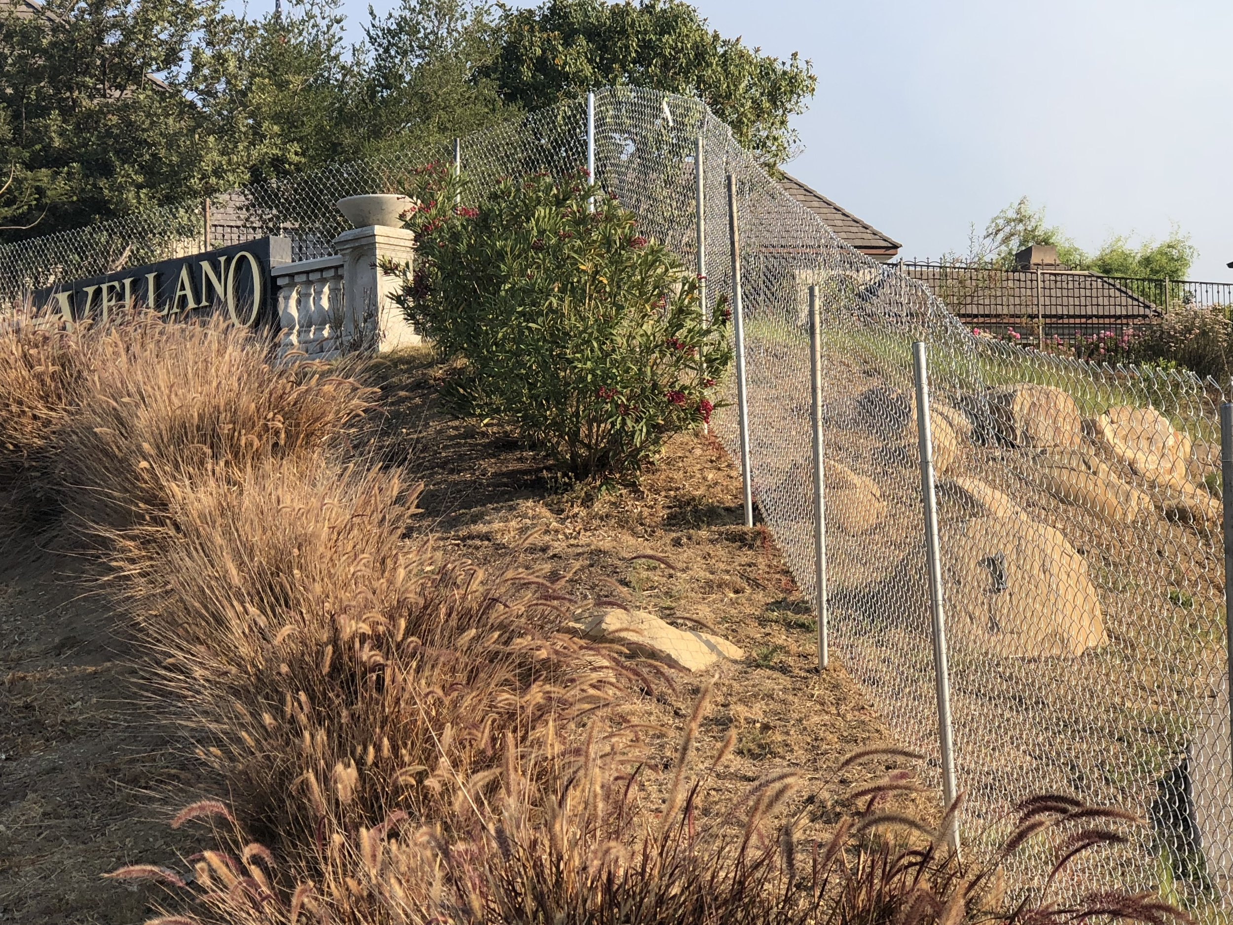 miles of un-permitted chainlink fencing installed by WGP's Bobby Heath and michael Schlesinger 16 months after purchase of the vellano golf course