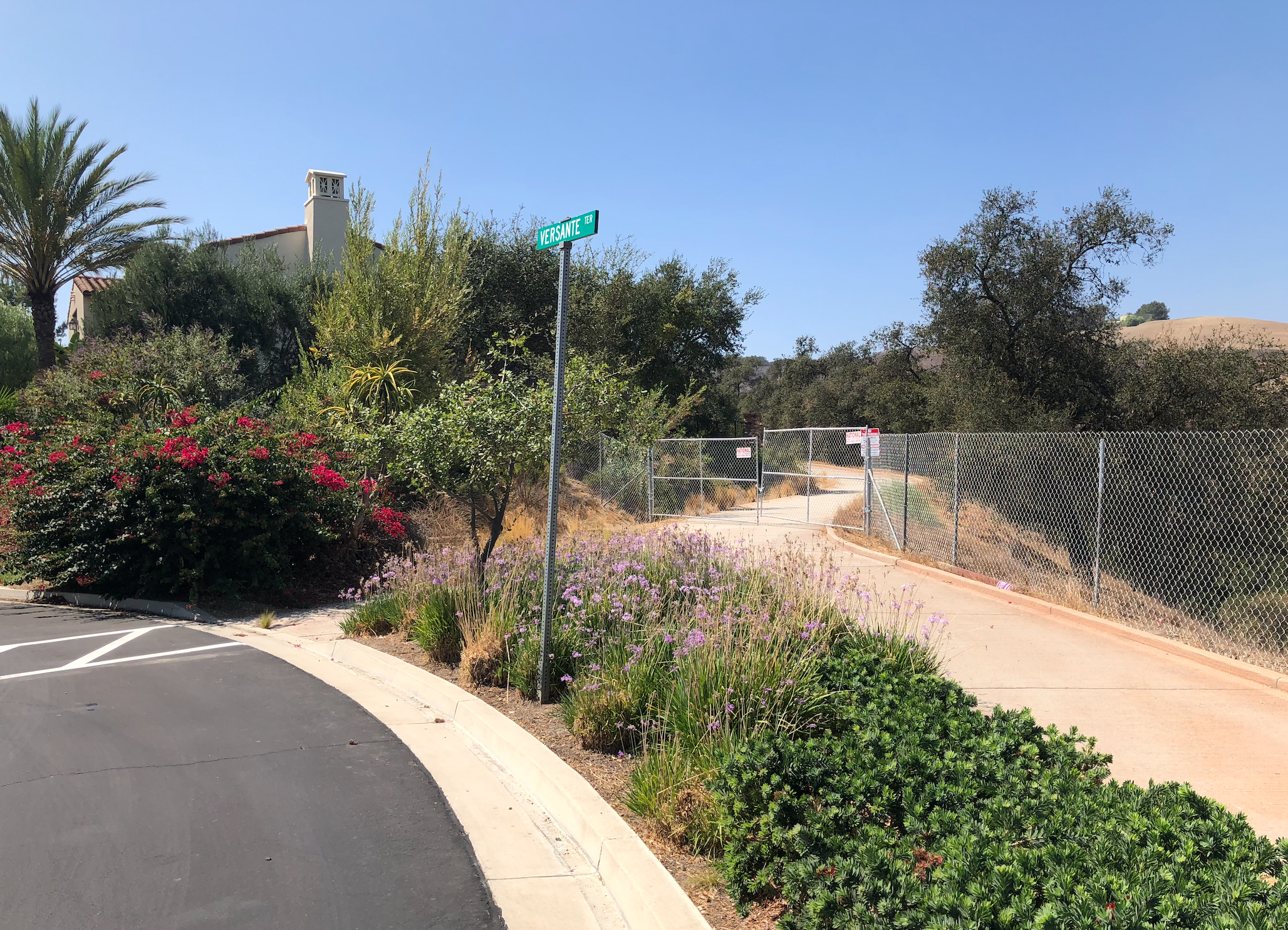 Un-permitted ILLEGAL fence installed by WGP-Vellano-llc