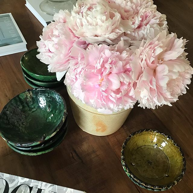 The peonies are huge this year. #gardening #peonies #flowers #pink #tamegroute #farmhousestyle #interiordesign