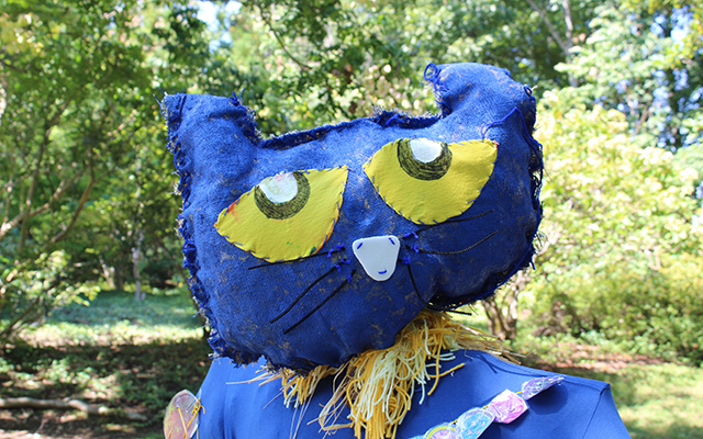 BMCC's Pete the Cat scarecrow from 2016.