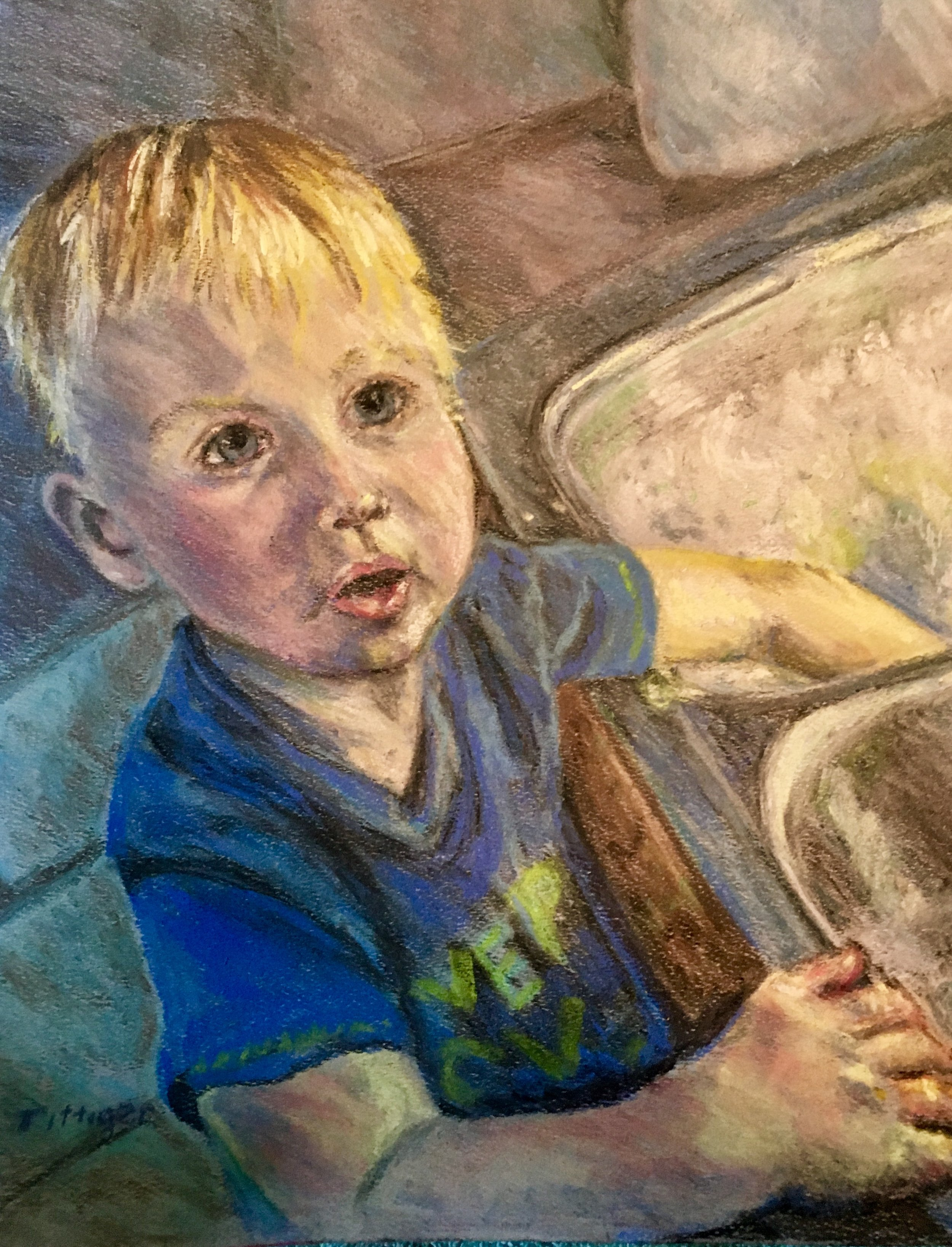 I DO DISHES?   This is a pastel of my grandson Logan. He loves to do dishes. I paint these by commission.
