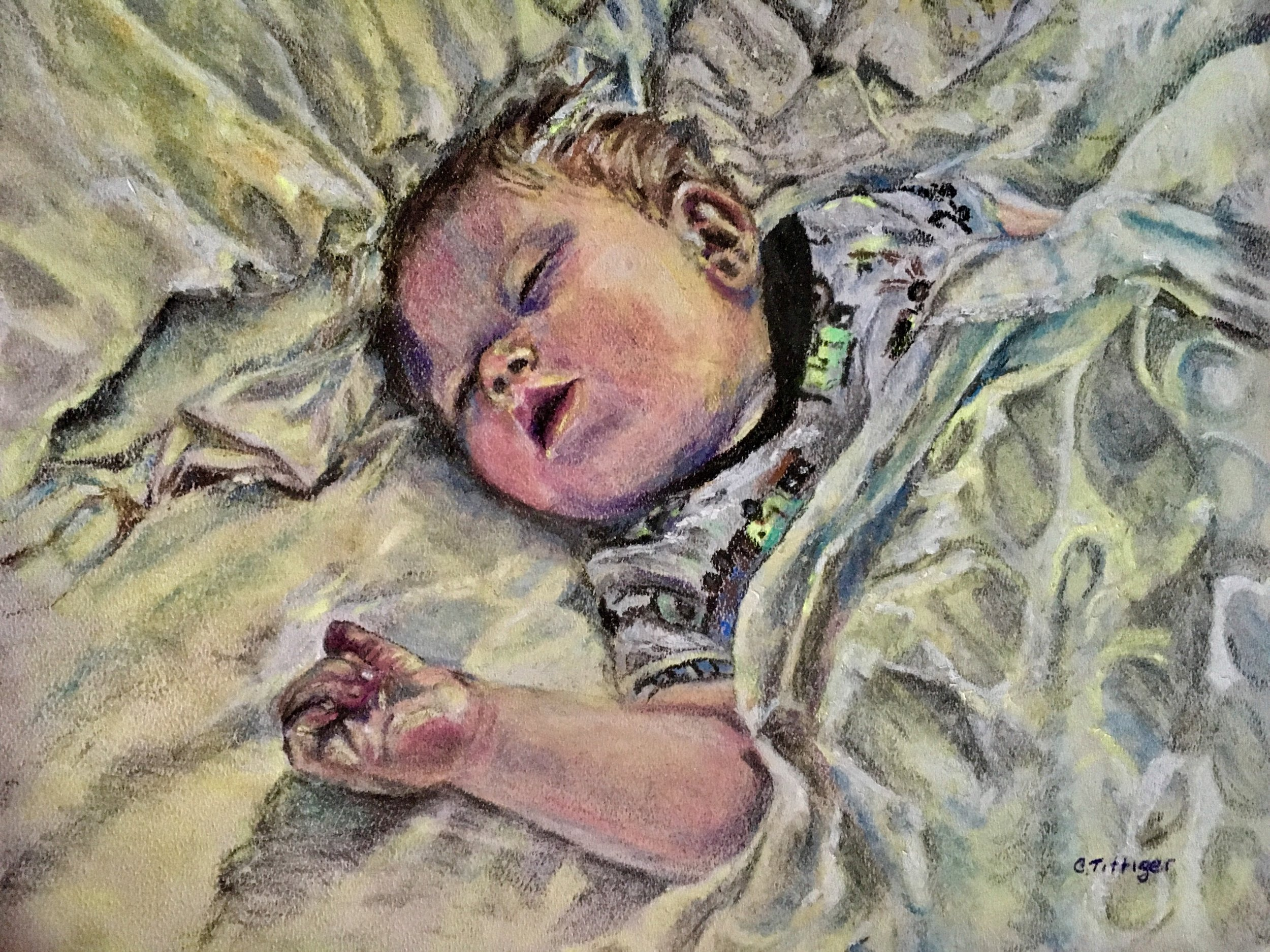 GIDEON   This is a pastel painting of my great nephew. He had too much of an amusement park that day. I complete pastel paintings by commission.