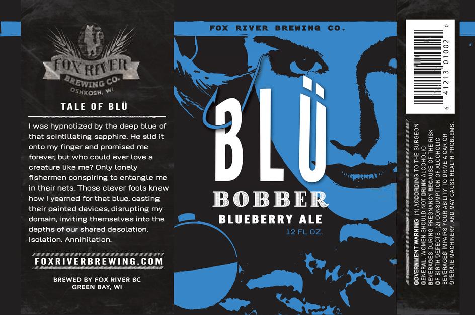Blu Bobber Blueberry Ale Label