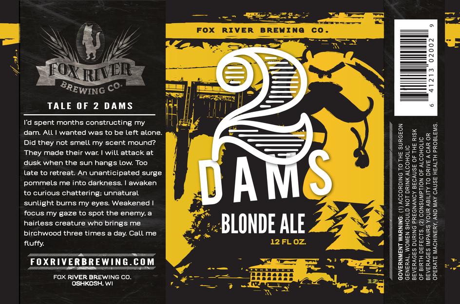 2 Dams Blonde Ale Label