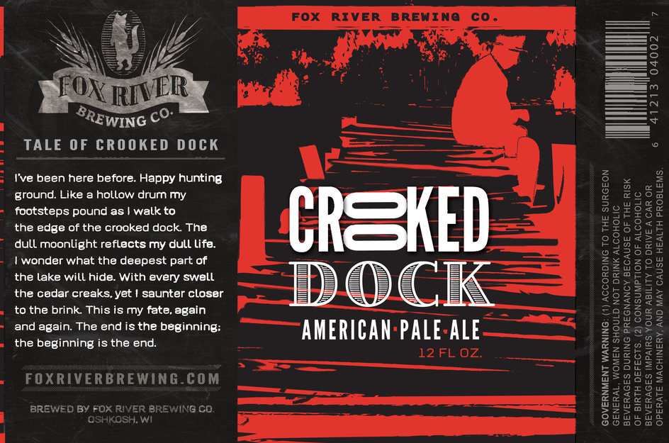 Crooked Dock American Pale Ale Label