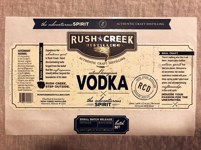 Our #labeloftheday feature is this @rushcreekdistilling #label! Featuring a combination of #matte and #gloss #varnish, these labels are stunning! . . . #printing #printer #labels #labeling #vodka #spirits #design #labeldesign