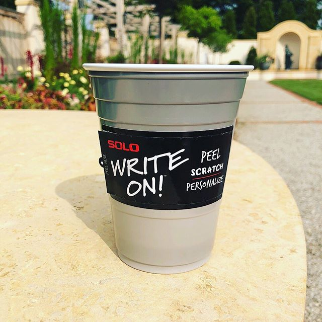 Our #labeloftheday feature is this #solocup #writeon #label! The patented #technology with which this label was #printed allows you to #customize your cup 🥤see more #innovative #labeldesigns and ideas at www.derksenco.com! Click the link in our bio to see what powerful labeling can do!
