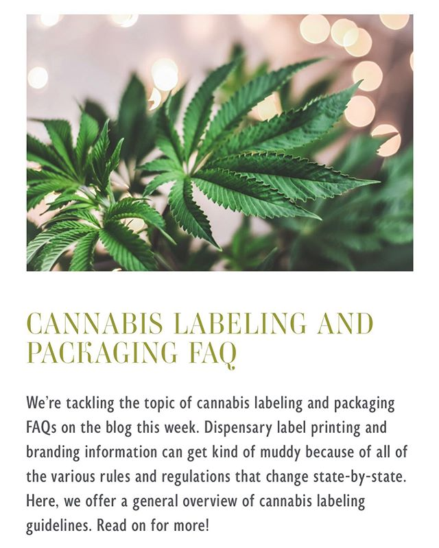 Today, we're talking about #cannabis and #cbd #packaging and #labeling! Check out this topic in the newest article on the Derksen Co. blog for more! Link in bio. . . . #cannabispackaging #cannabislabels #cbdlabel #cbdpackaging #dispensary #dispensarydesign