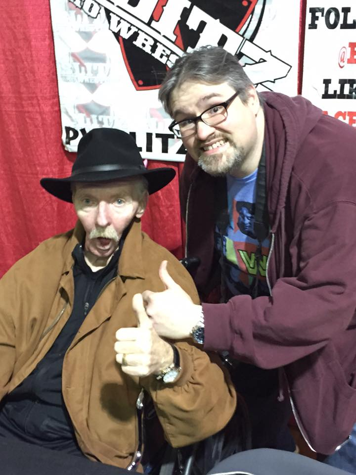 "Legendary wrestling manager and WWE Hall of Famer Bobby ""The Brain"" Heenan and I at a Pro Wrestling Blitz show in Joliet in February 2016."