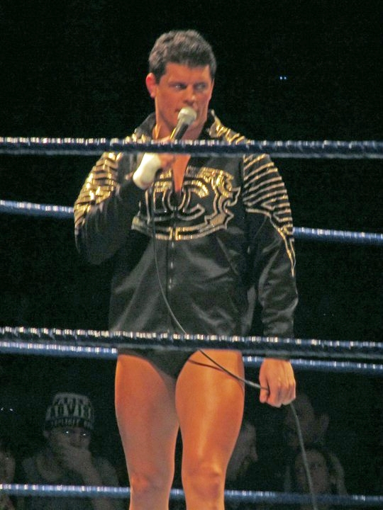 """The American Nightmare"" Cody (aka Cody Rhodes), along with The Young Bucks conceived the idea of All In.  (Photo by Mike Pankow)"