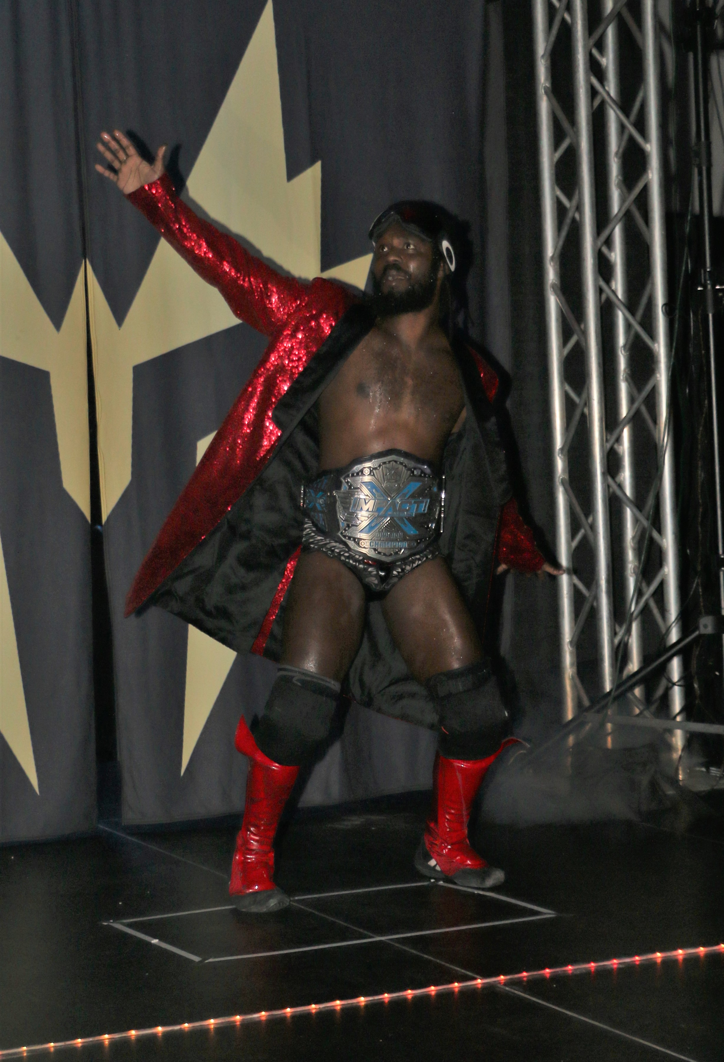 IMPACT Wrestling X Division Champion Rich Swann comes out for the six-man scramble match.