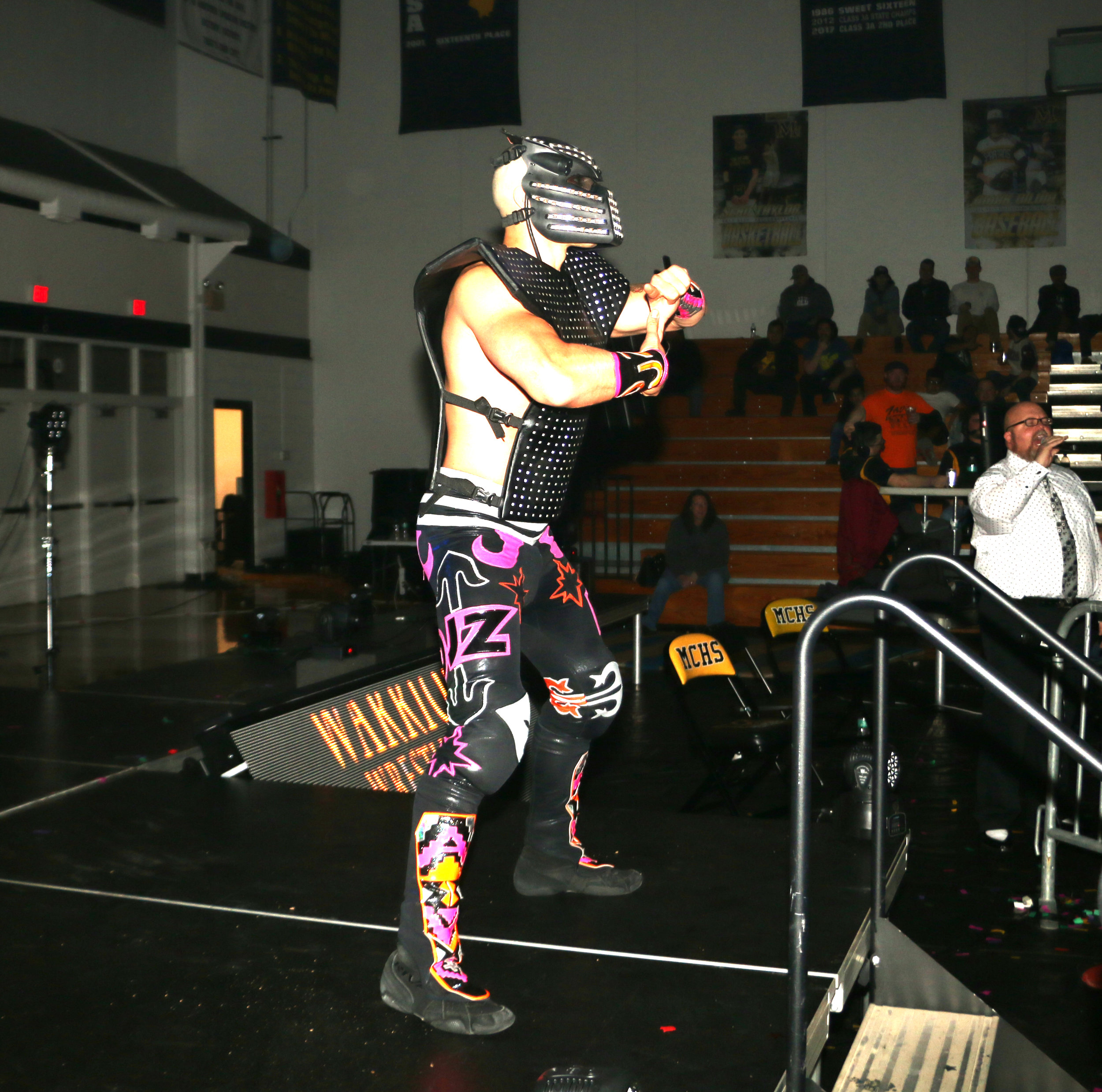 DJZ enters the arena for his match with Sammy Guevara.