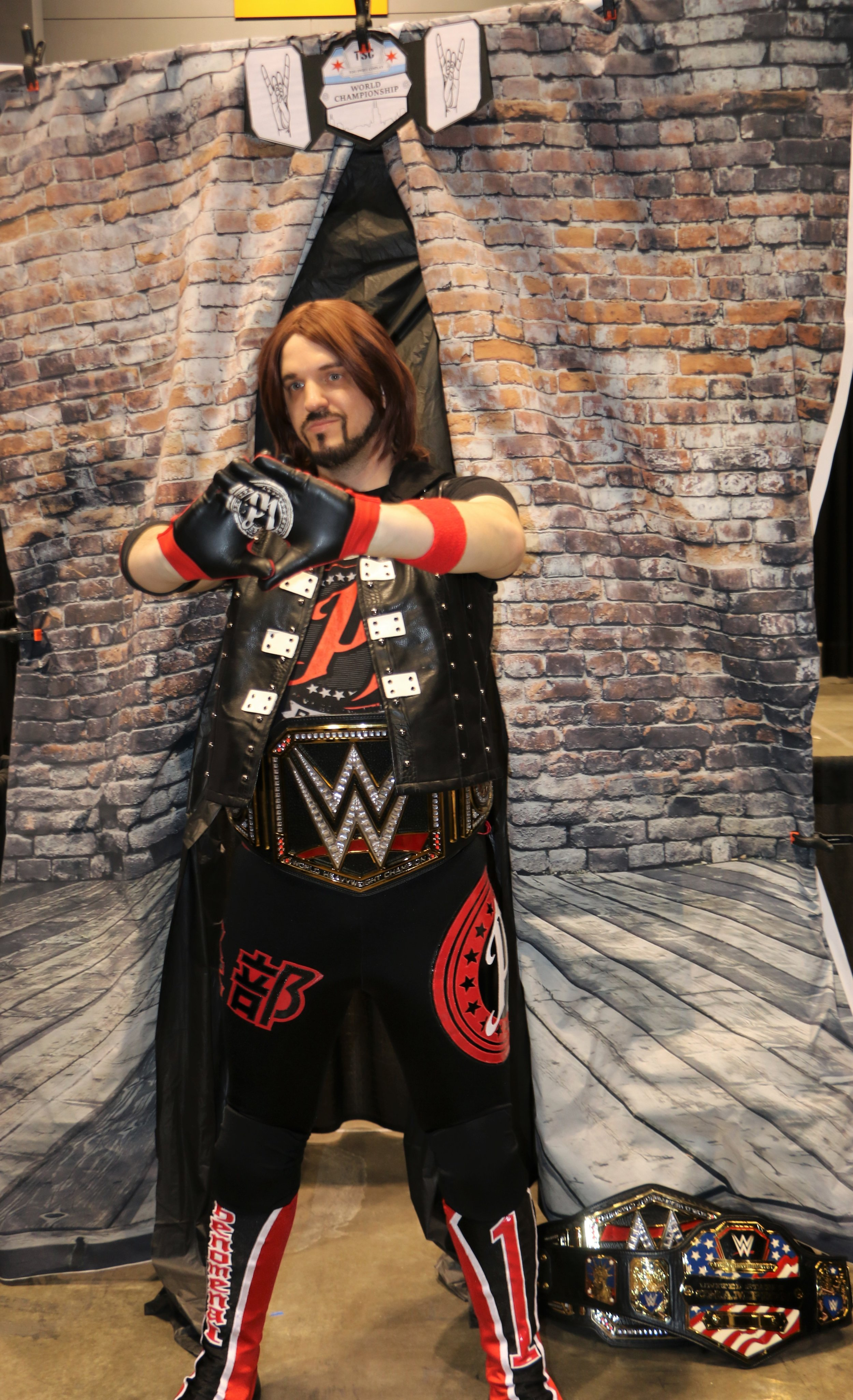 AJ Styles cosplayer at the Two Sweet Cosplay booth.