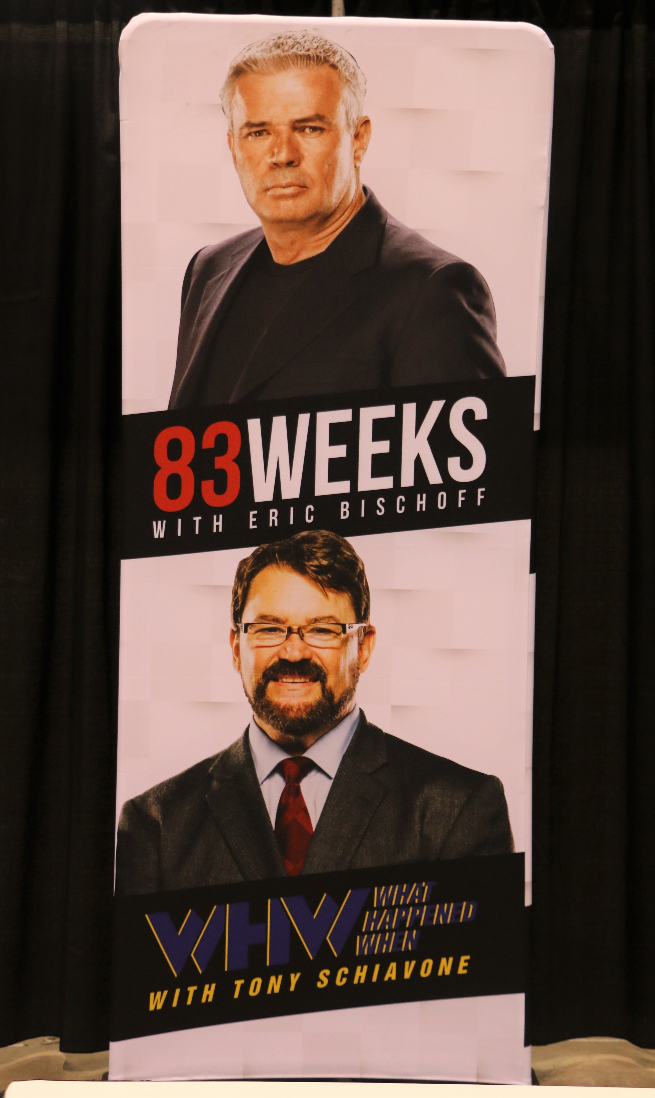 Former WCW personalities Eric Bischoff, top, and Tony Schiavone did a show together at C2E2.