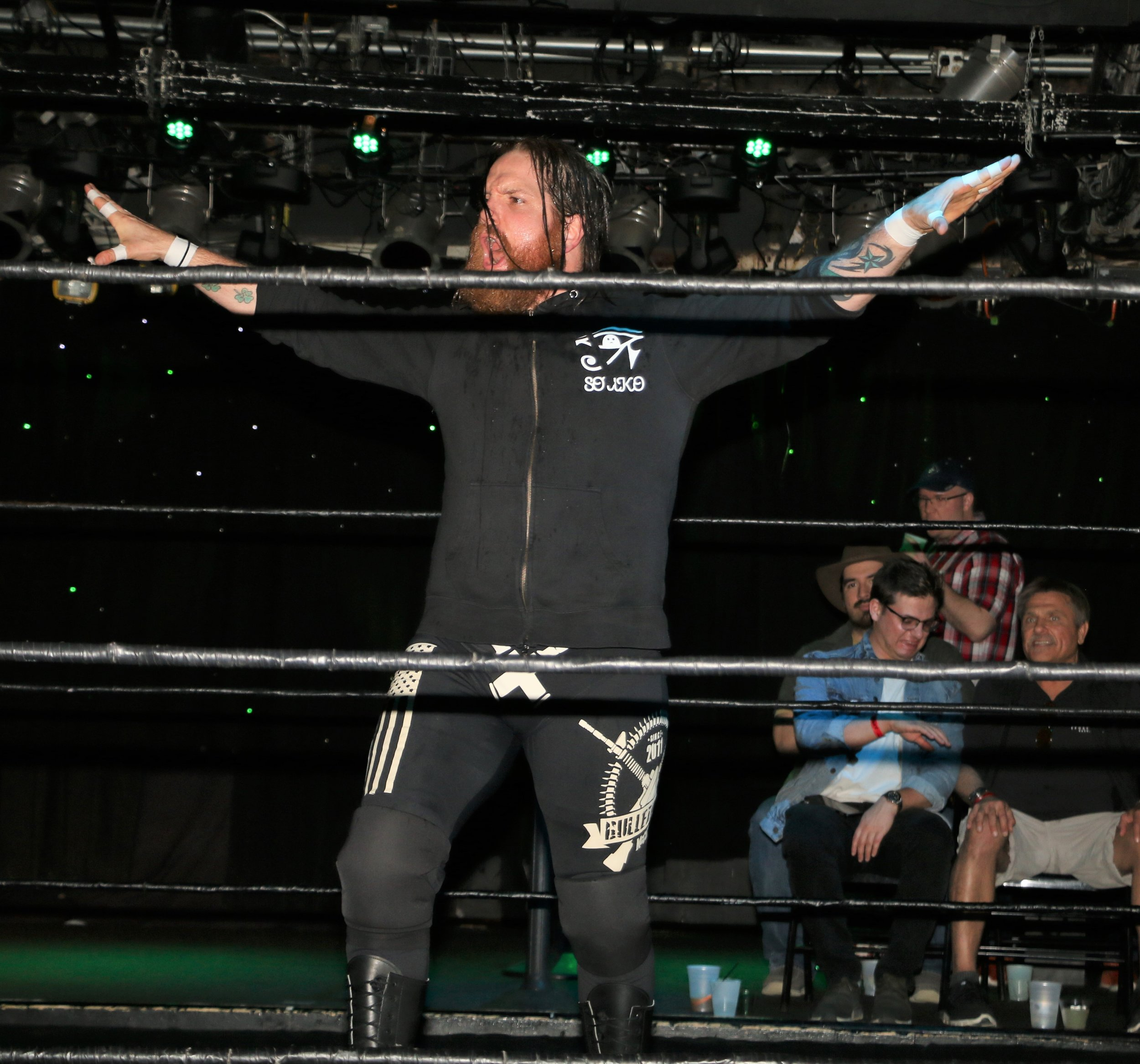 """Bulletproof"" Ben McCoy, an army veteran, made his Zelo Pro debut against Gringo Loco."