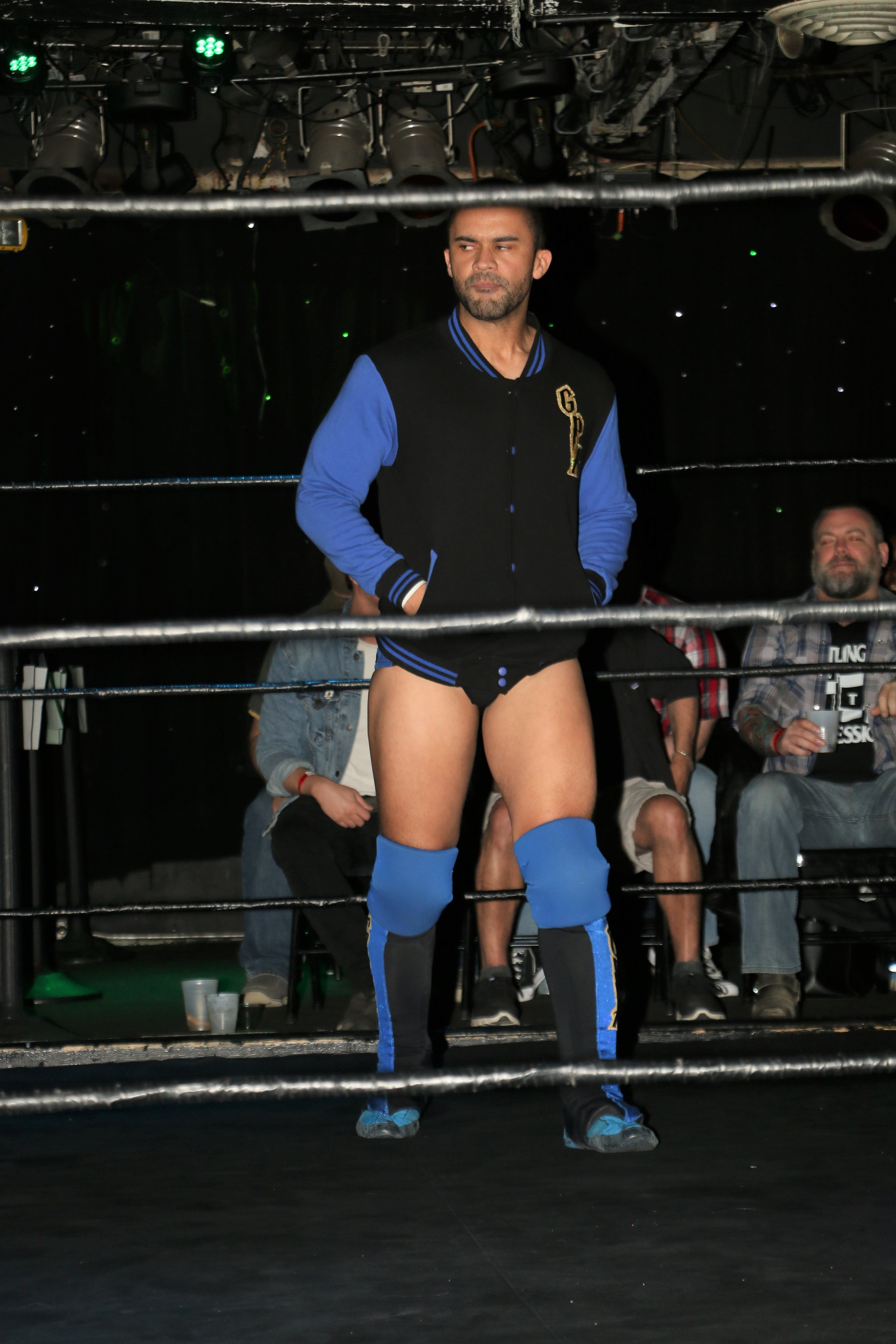 GPA enters the ring before his tag team match.