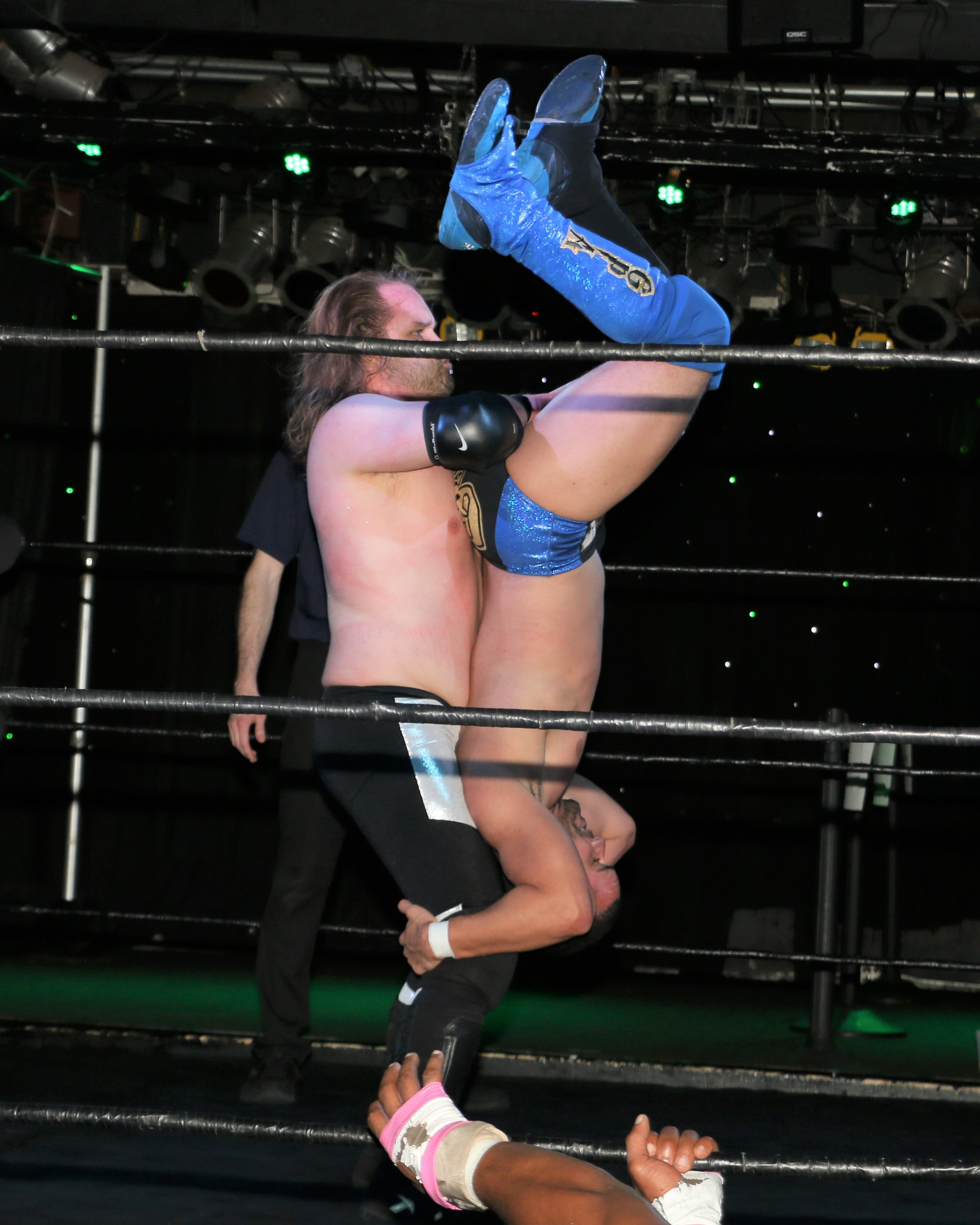 Mason Conrad delivers the cradle piledriver on GPA, leading to victory for Conrad and Isaias Velazquez.
