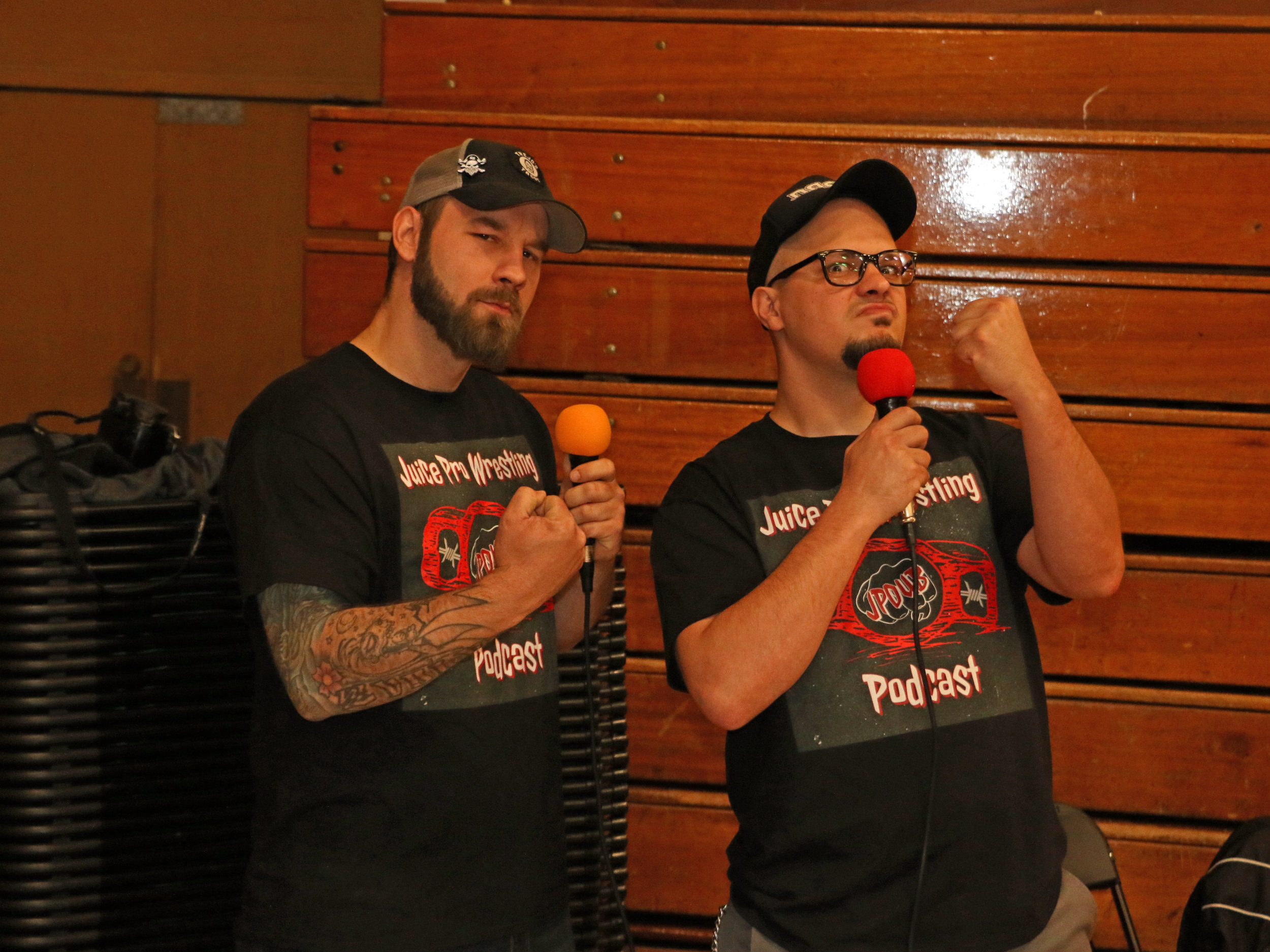 J.R. and Juice host the Juice Pro Wrestling Podcast during the Warrior Wrestling 5 VIP Fan Fest.