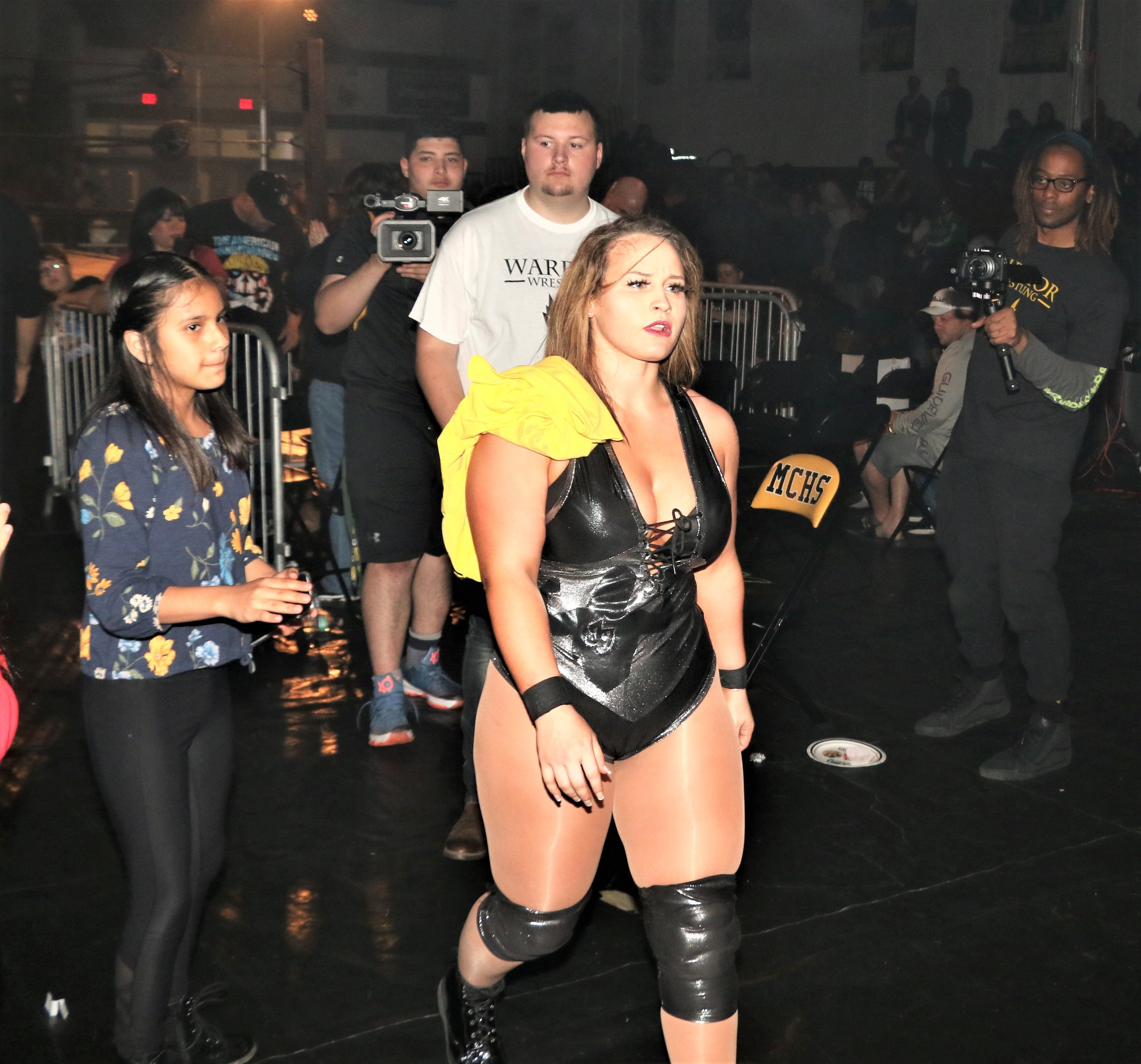 Jordynne Grace walks back to the locker room to close out the show.