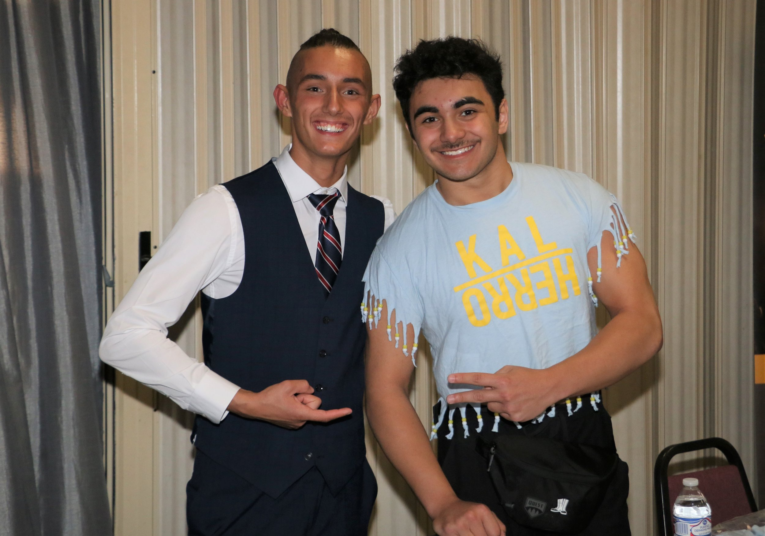 The Princes of the Universe, Jordan Kross, left, and Kal Herro, during the VIP Meet and Greet before the show.