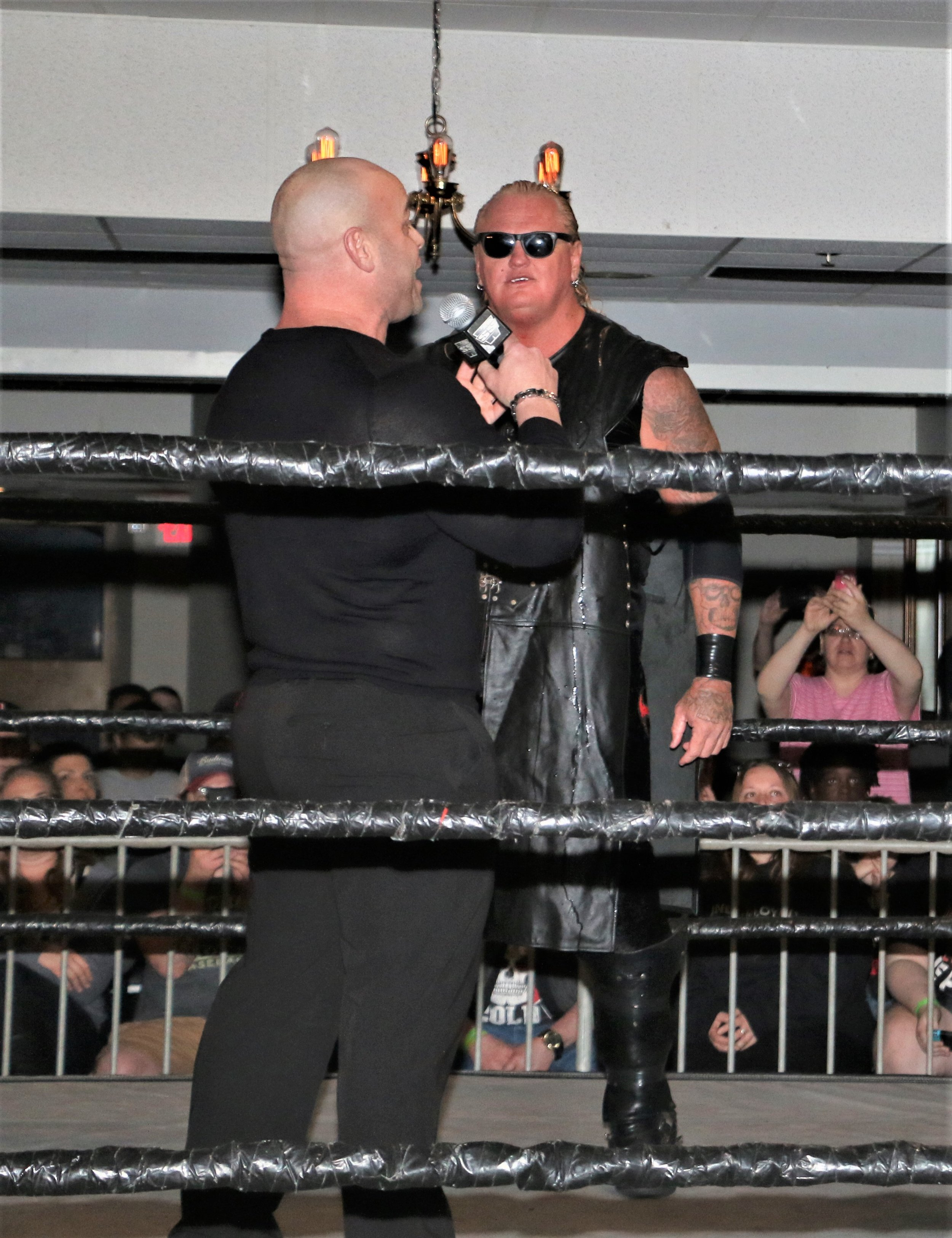 Gangrel comes face-to-face with bodybuilder David Baye.