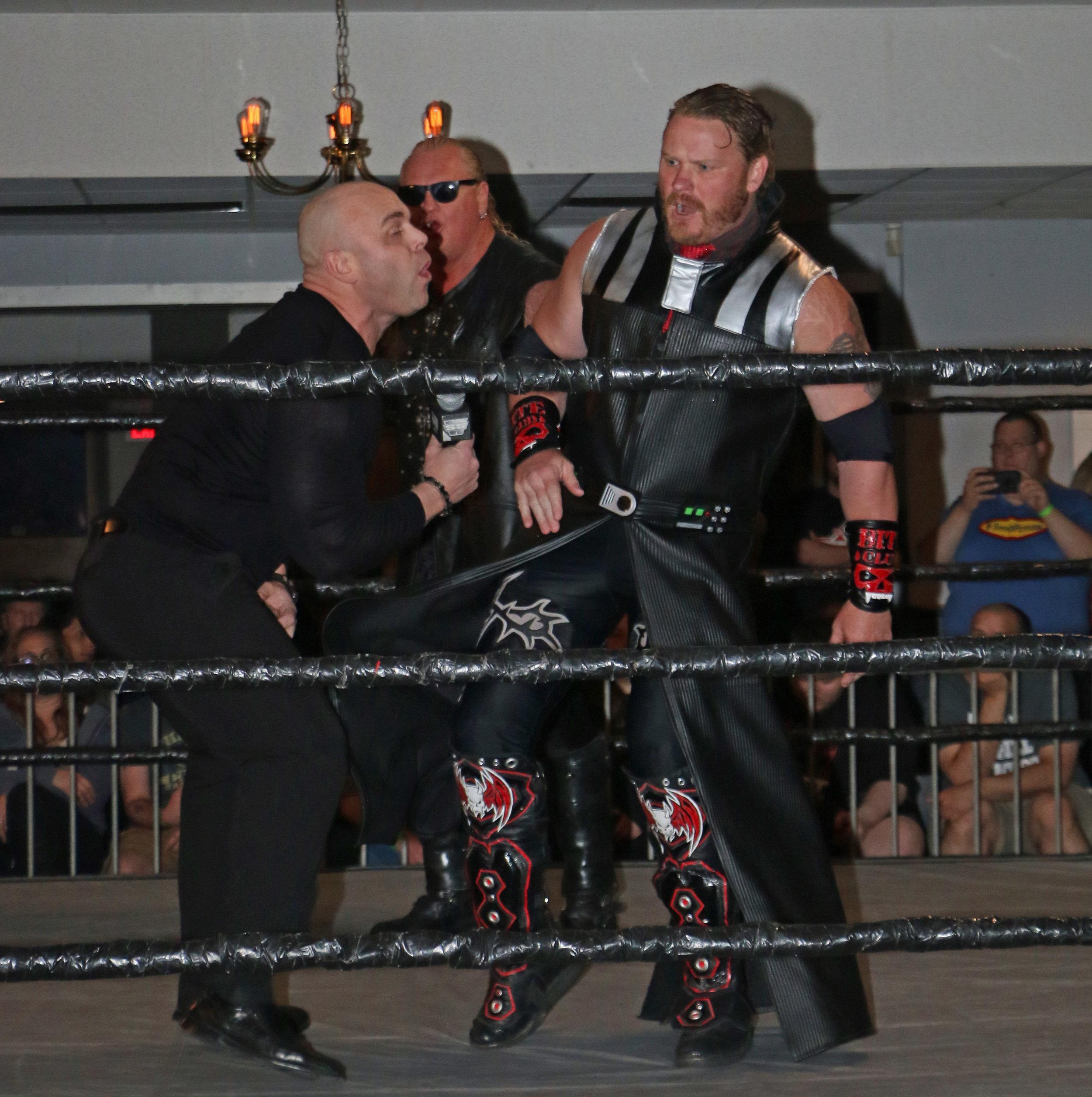 Gangrel and Kevin Thorn attack David Baye.