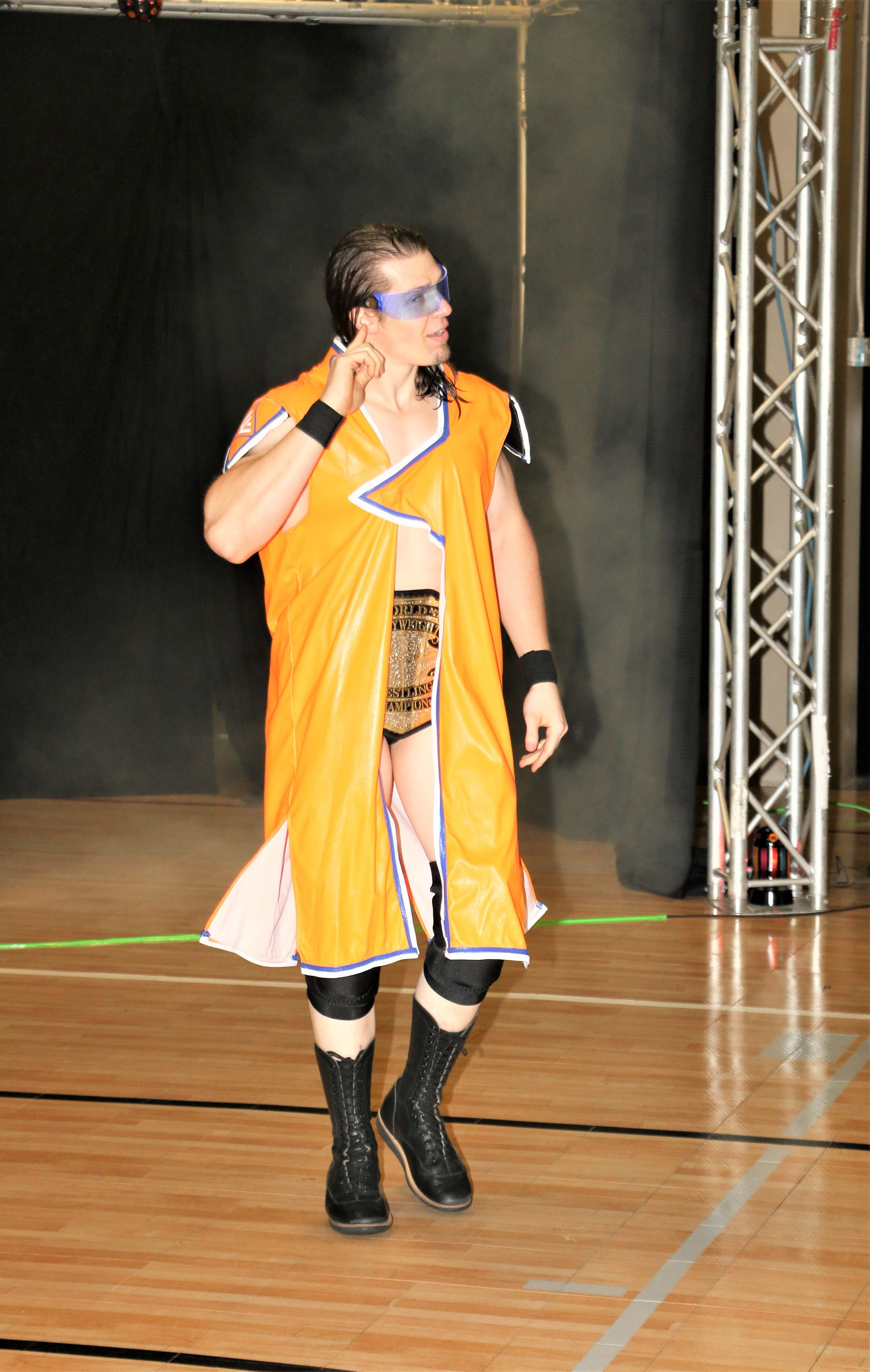 Frontline Pro Champion Logan Lynch enters the arena for his title defense against J Ca$h.