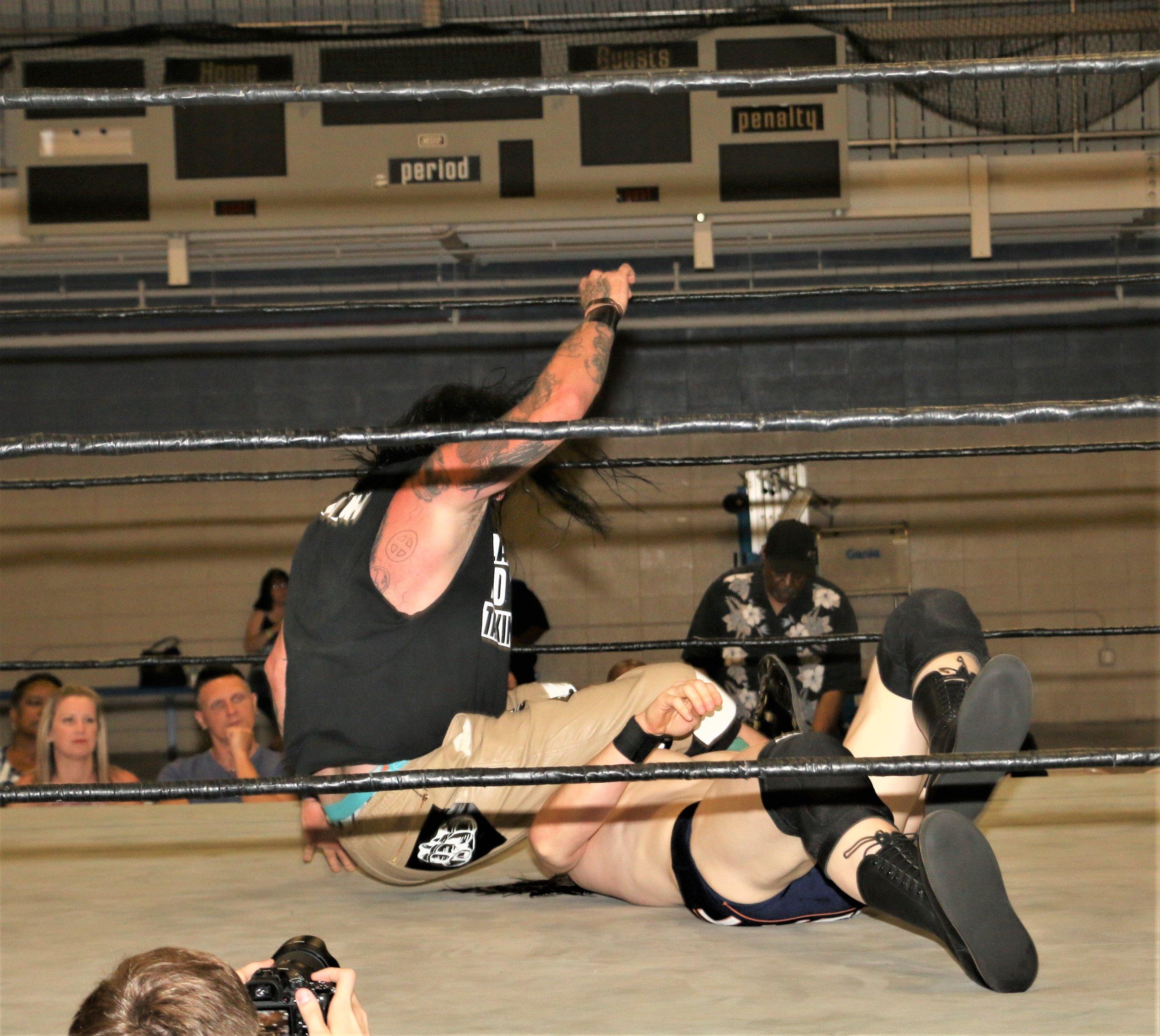 J Ca$h drops the leg on Logan Lynch.