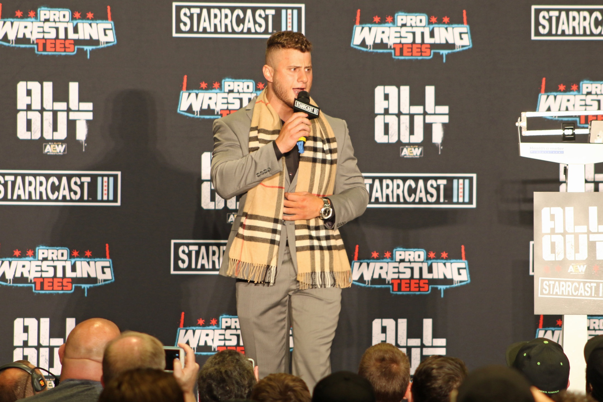 "MJF, a close friend of Cody Rhodes, called Cody an ""outlaw"" after he helped create AEW.  (Photo by Mike Pankow)"
