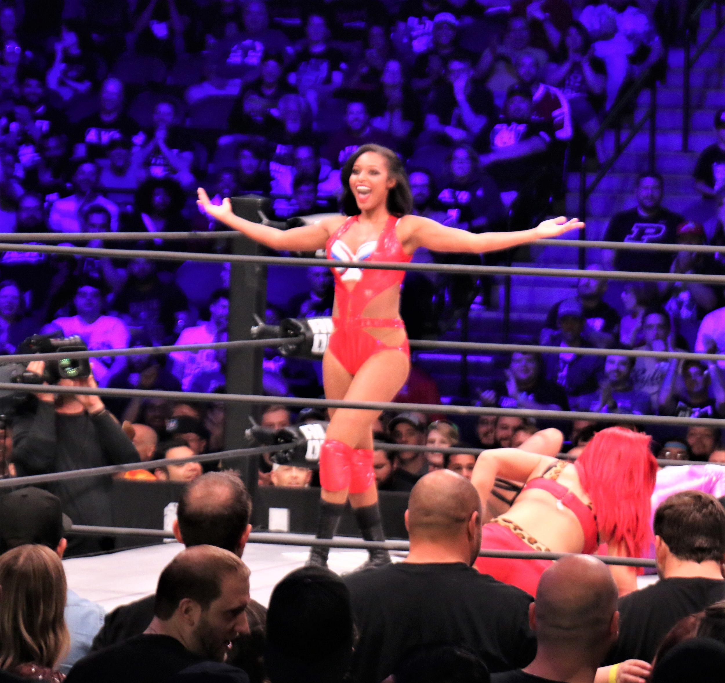 Brandi Rhodes struts her stuff during the Casino Battle Royale.