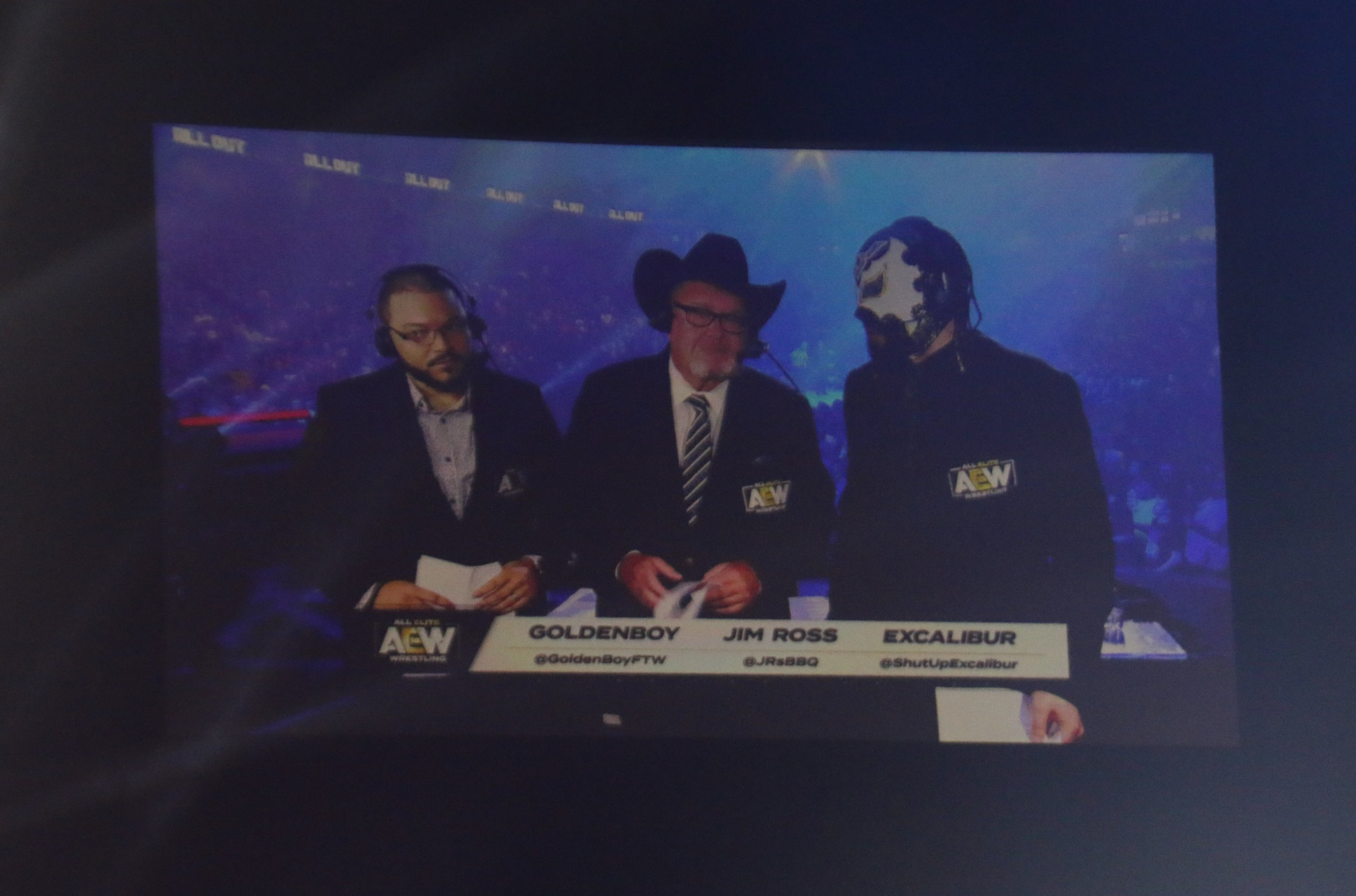 AEW announce team of Golden Boy, Jim Ross and Excalibur.