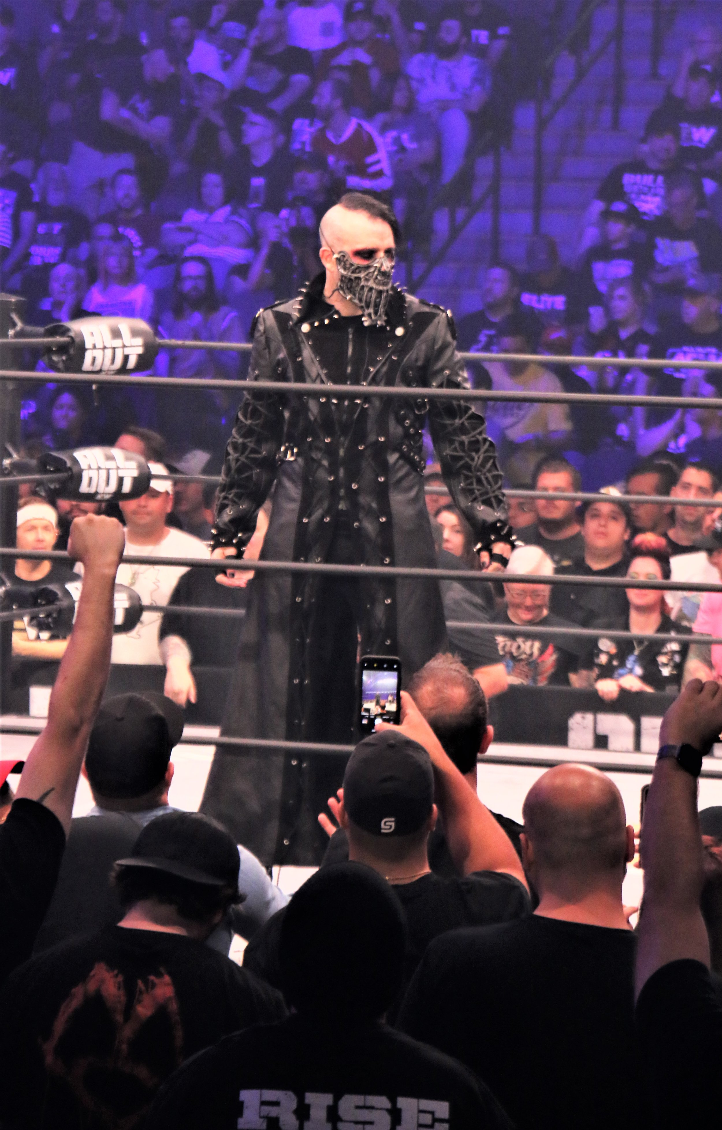 "Jimmy Havoc enters the ring for the ""Cracker Barrel Clash."""