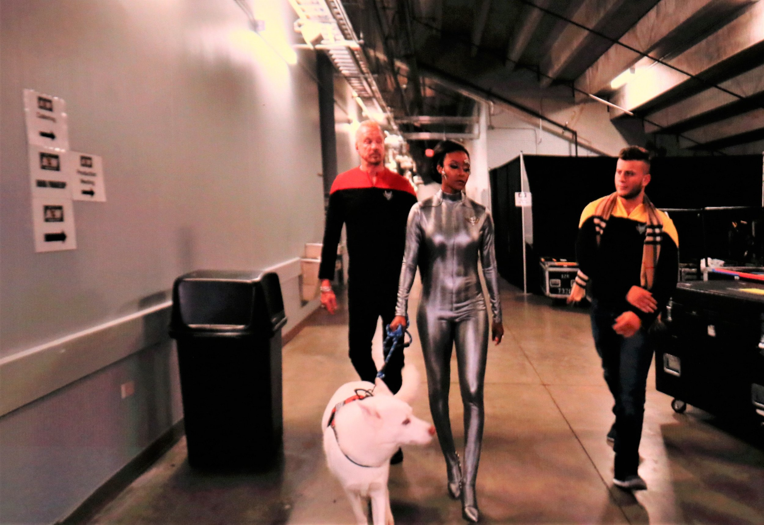 Diamond Dallas Page, Brandi Rhodes, MJF and Pharaoh as part of Cody's Star Trek-themed entrance.
