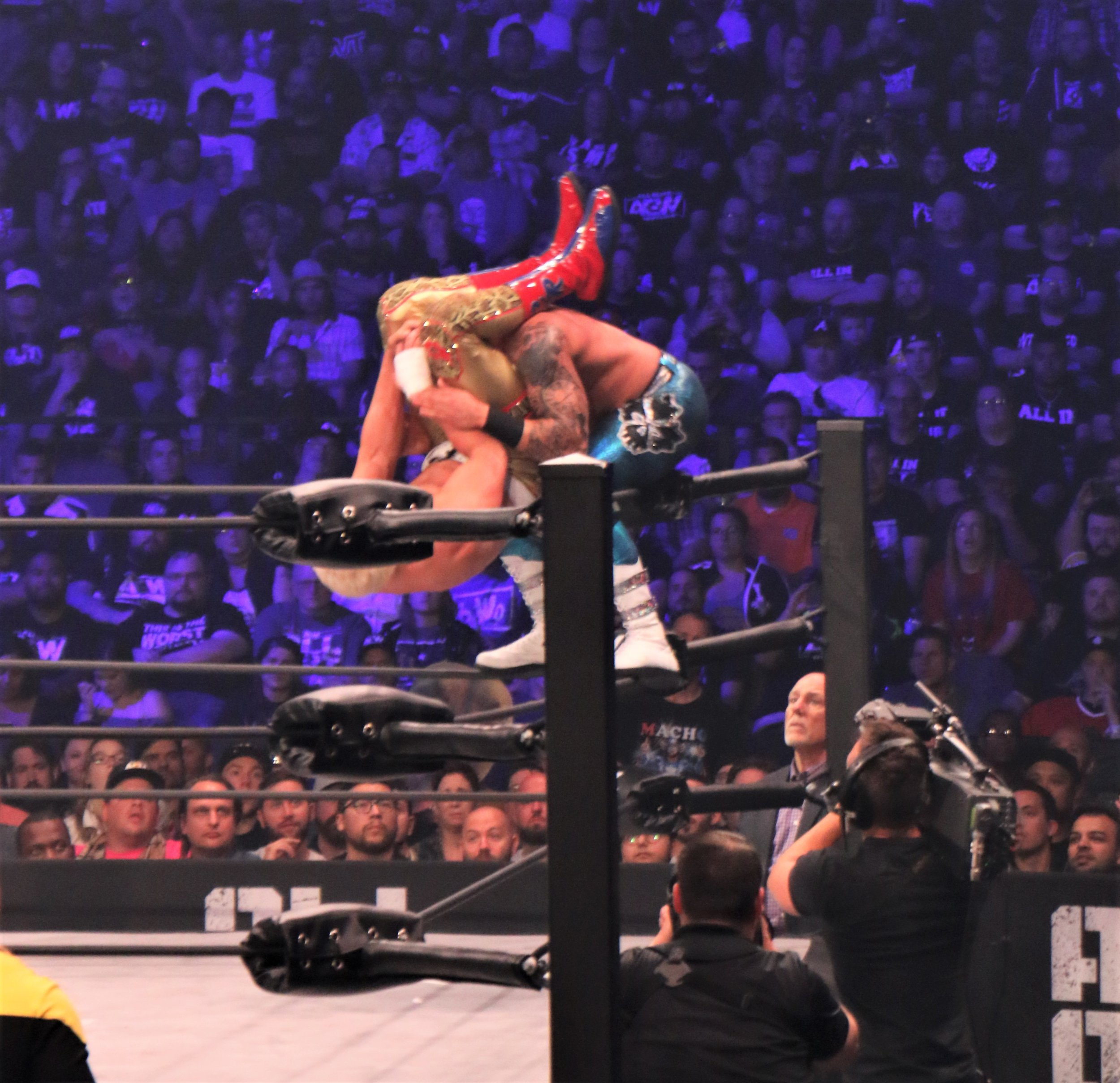 Cody goes for the hurricanrana on Shawn Spears.