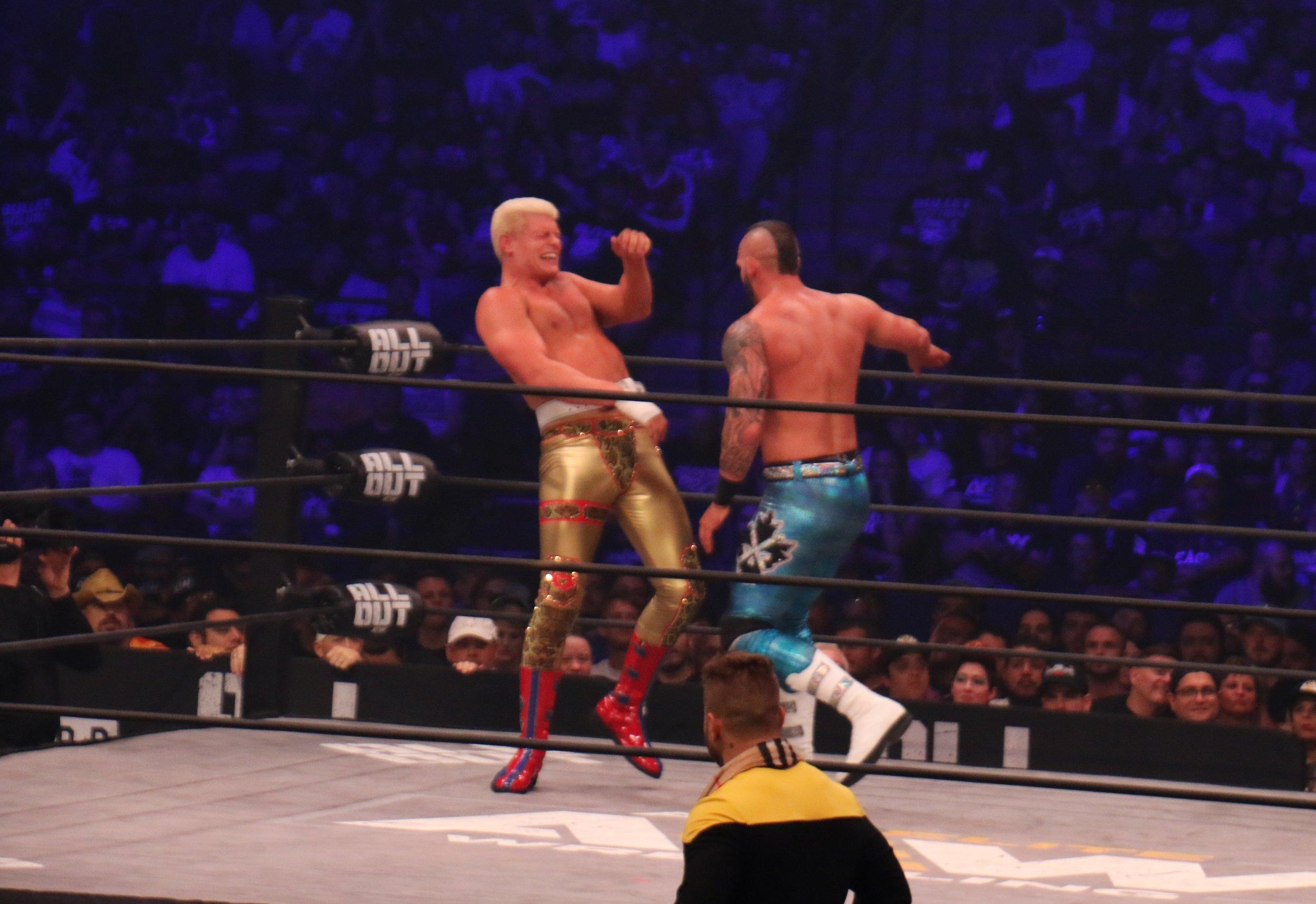 Shawn Spears chops Cody.