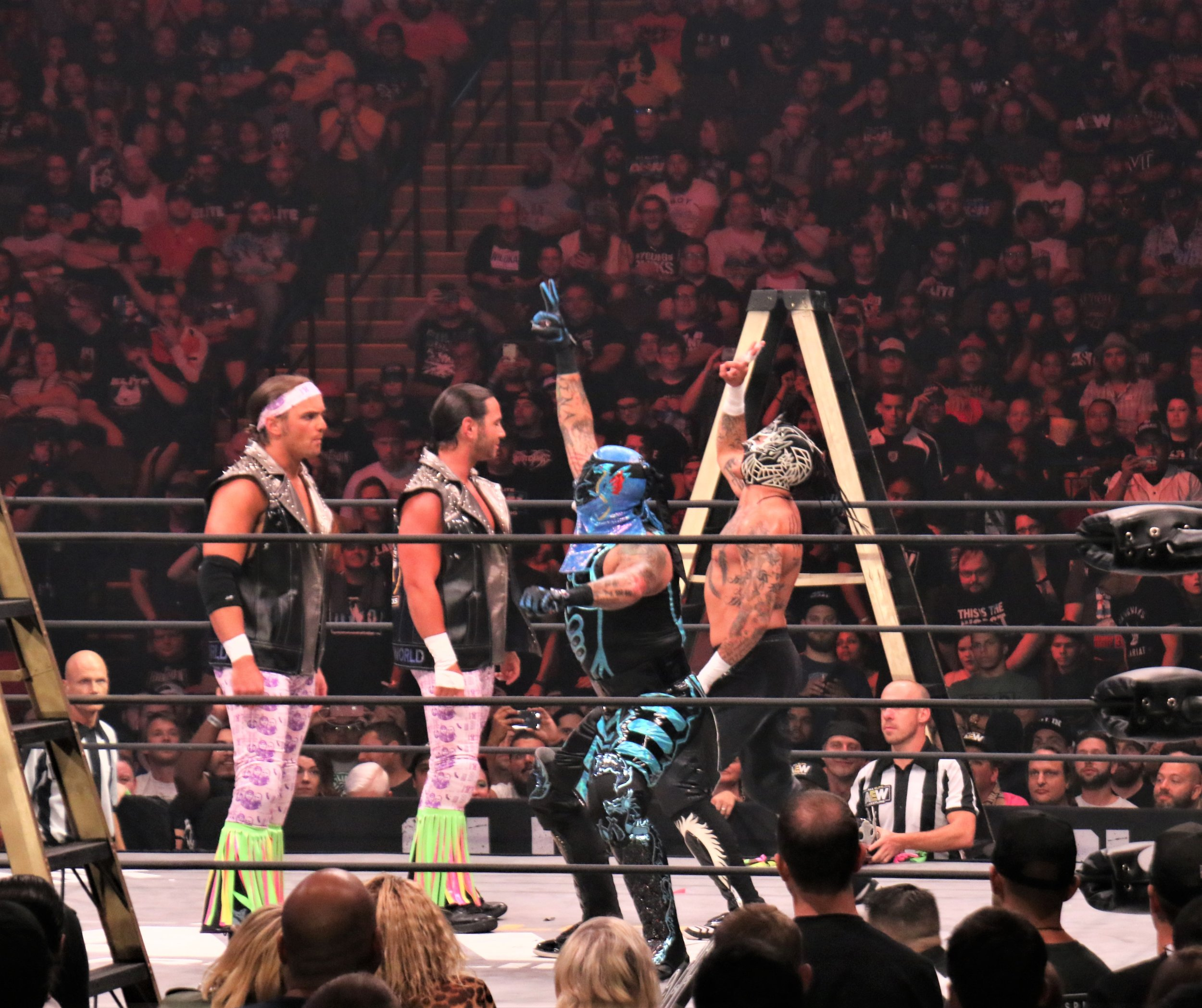 The Lucha Bros., right, say they have no fear of the Young Bucks.