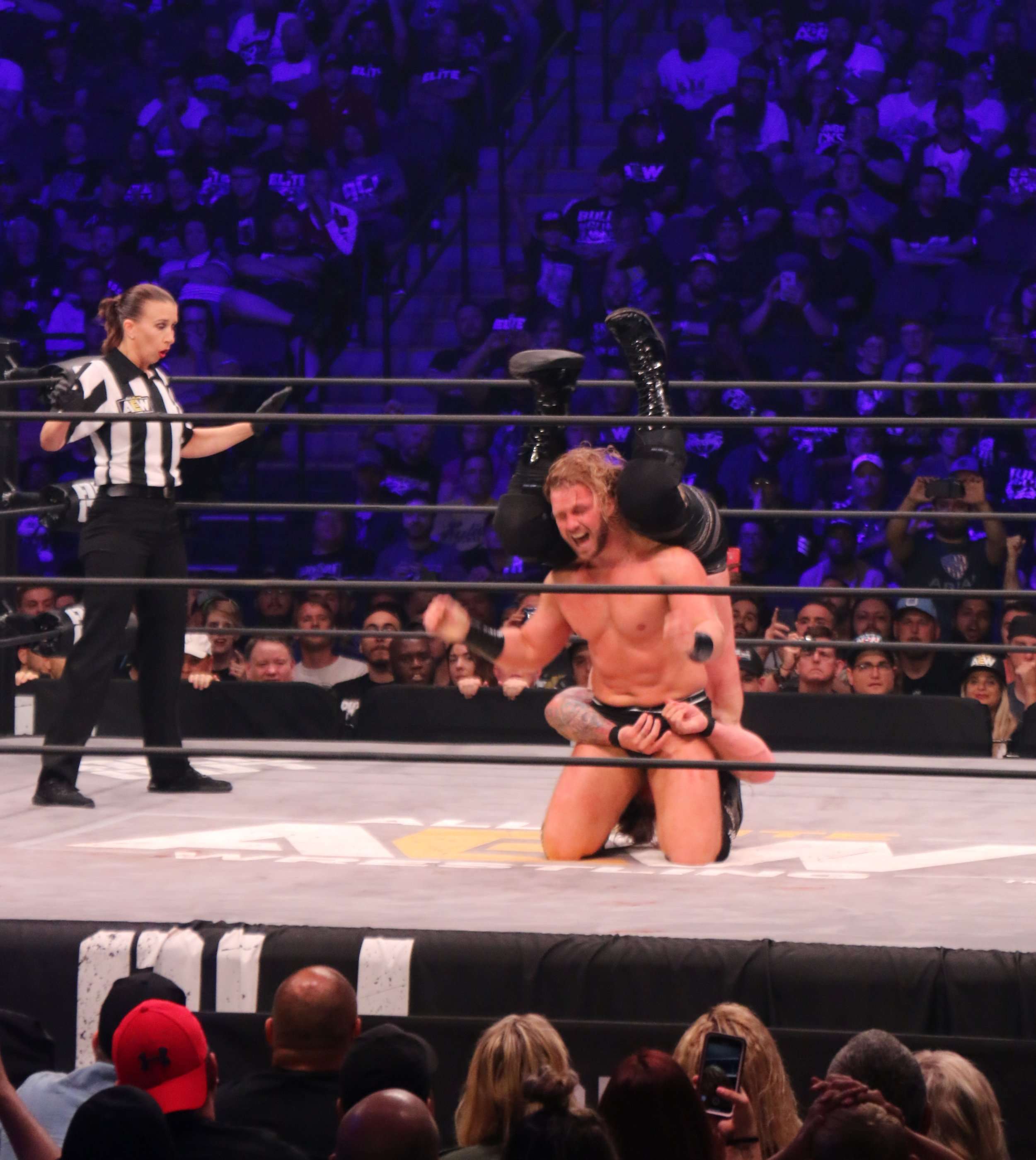 Hangman Page hits the Dead Eye on Chris Jericho, but Jericho kicked out a 2.
