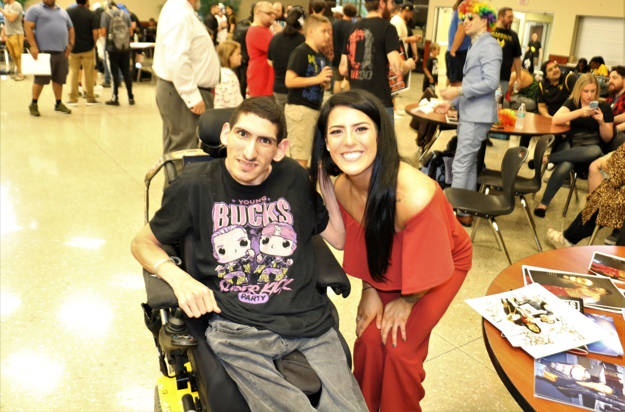 Tessa Blanchard with one of her biggest fans at the Warrior Wrestling 6 VIP Fan Fest.