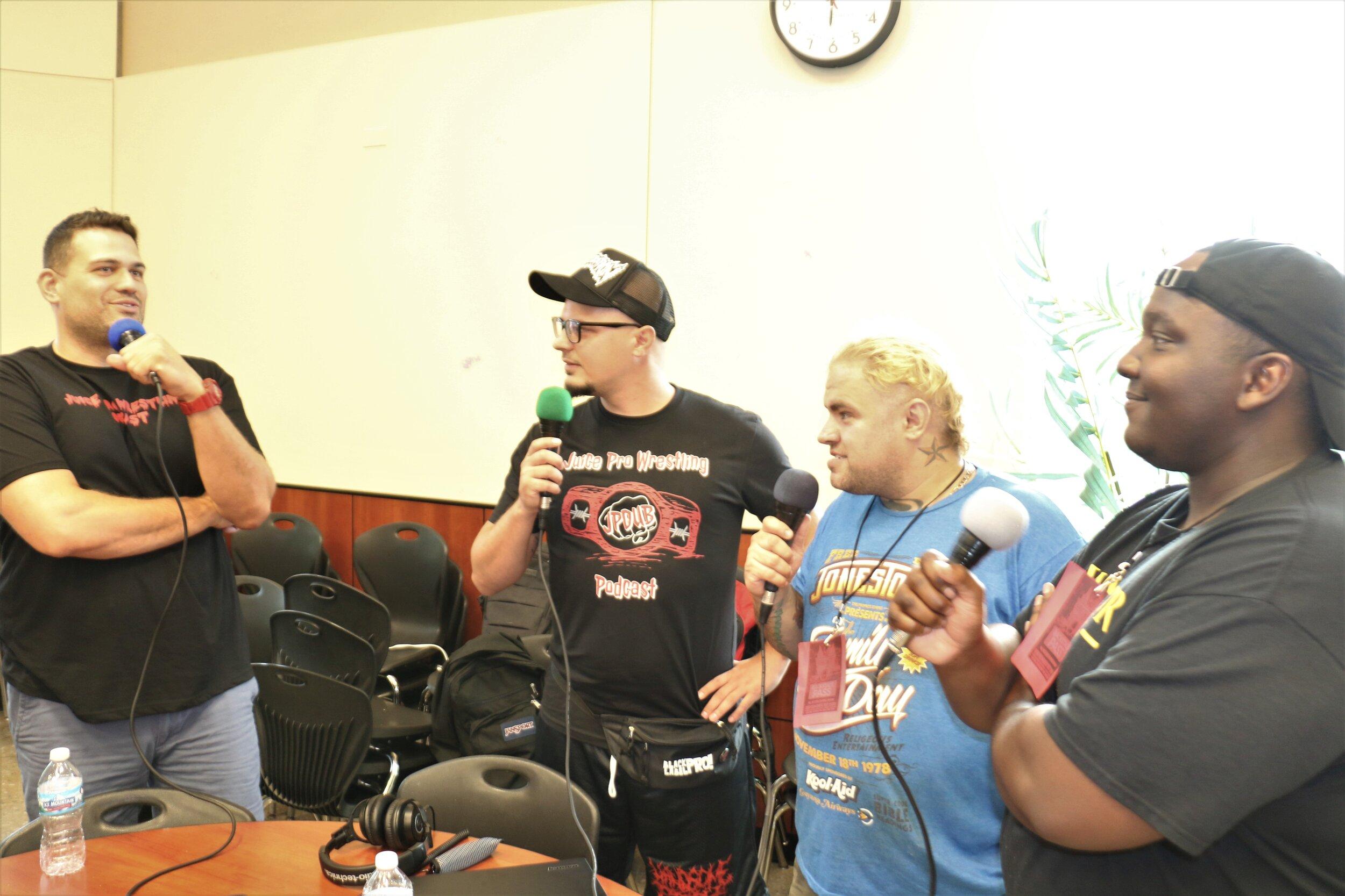 The live Juice Pro Wrestling Podcast at the Warrior Wrestling 6 VIP Fan Fest.