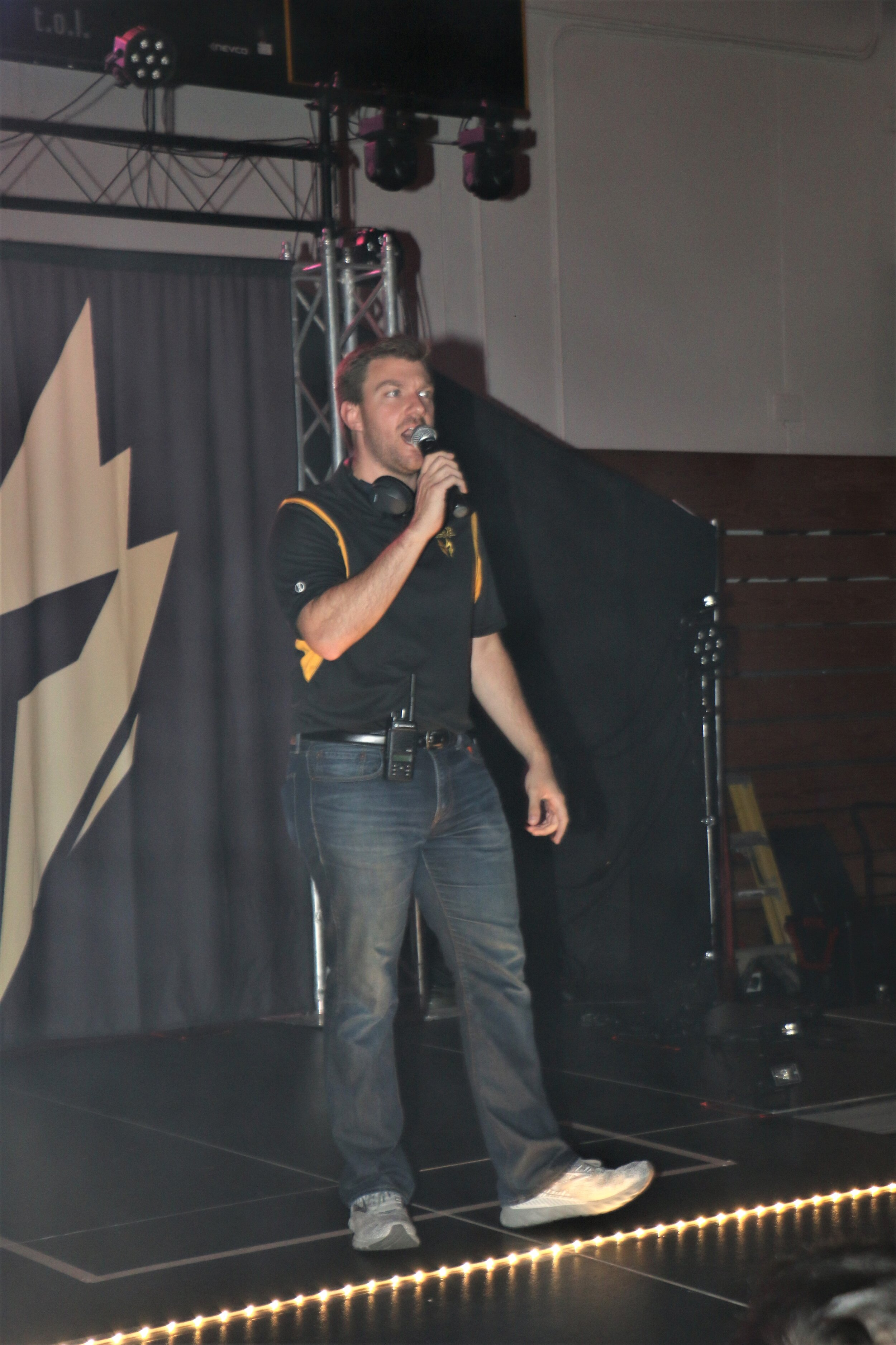Warrior Wrestling promoter Steve Tortorello opens the show.