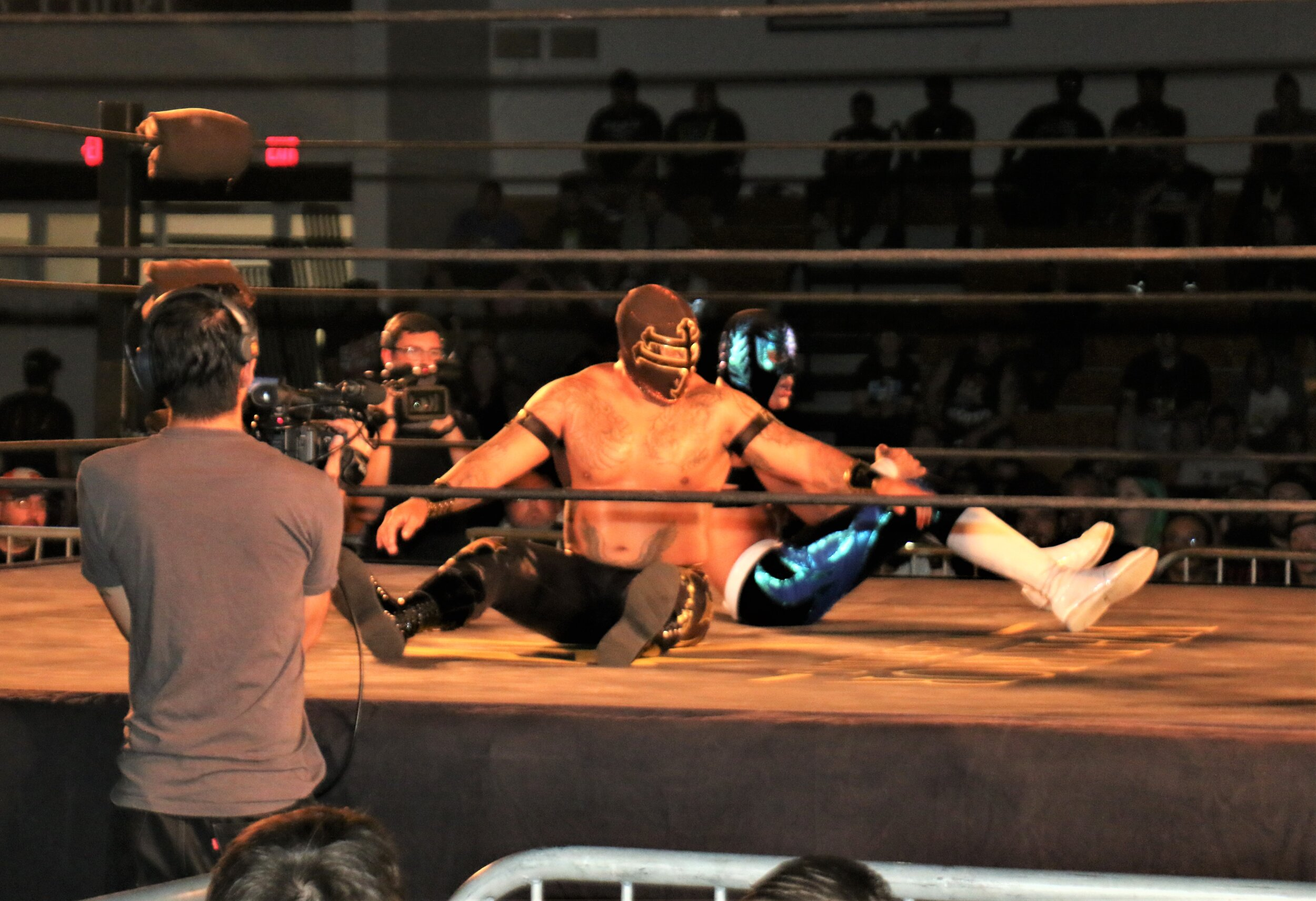 Templario, front, and Sobreano Jr. showed off an acrobatic arsenal.