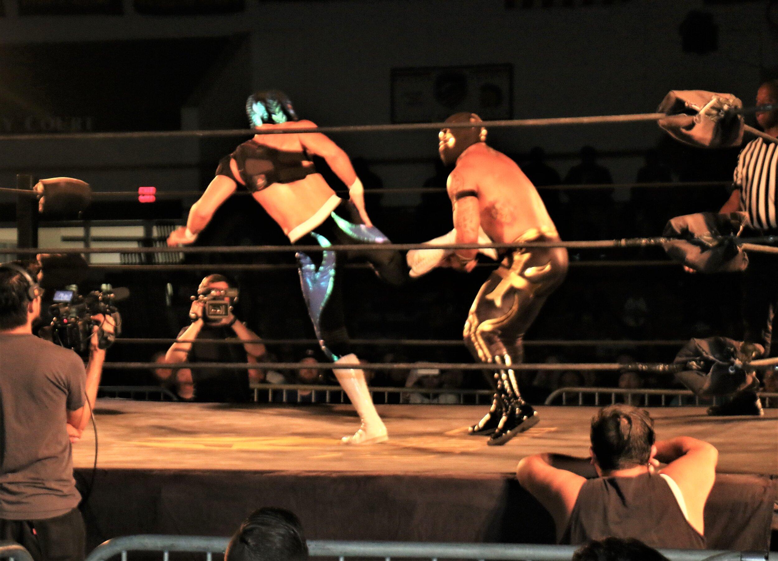 Sobreano Jr. delivers a kick to Templario.